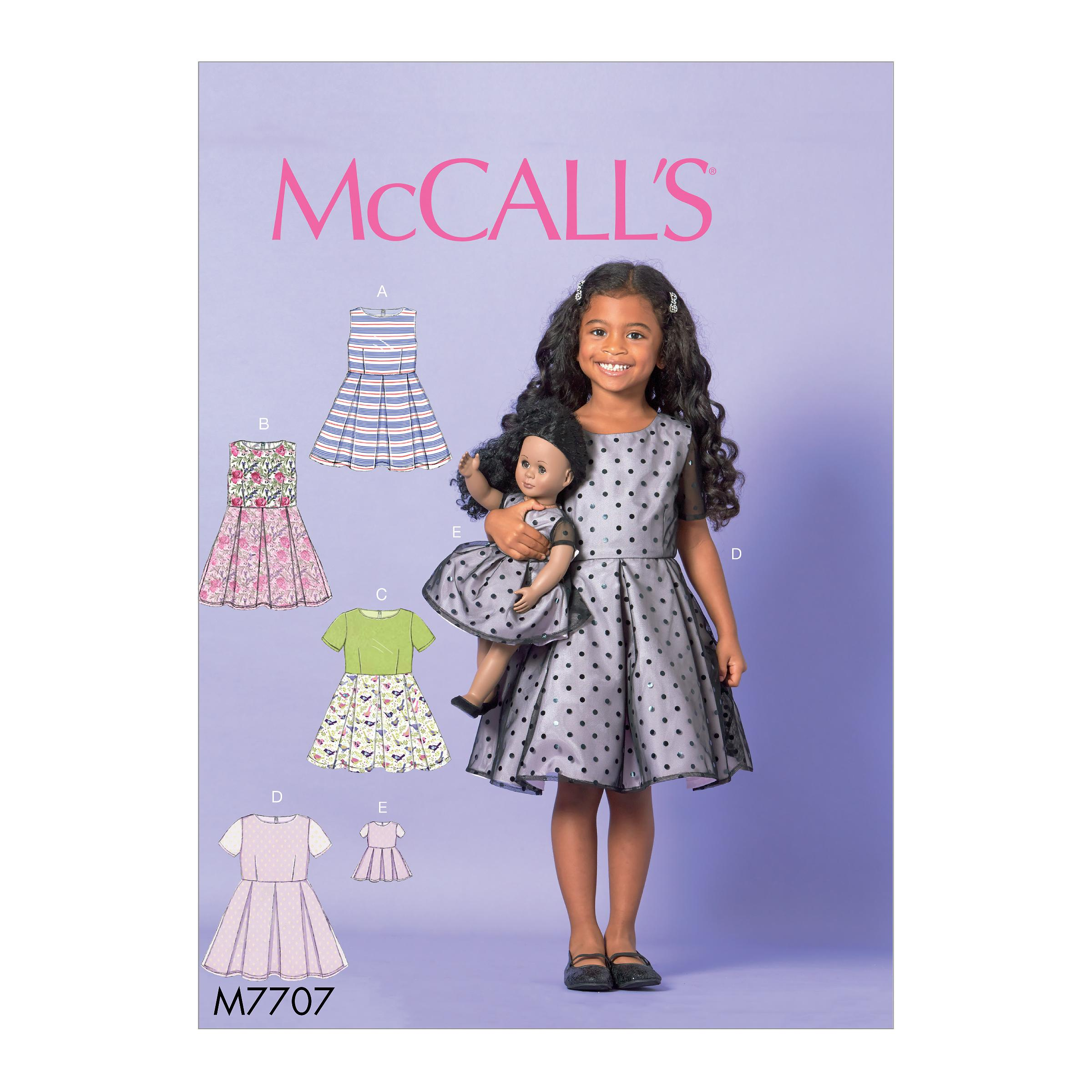 McCalls M7707 Kids Children, Kids Girls & Boys, Crafts Dolls & Toys