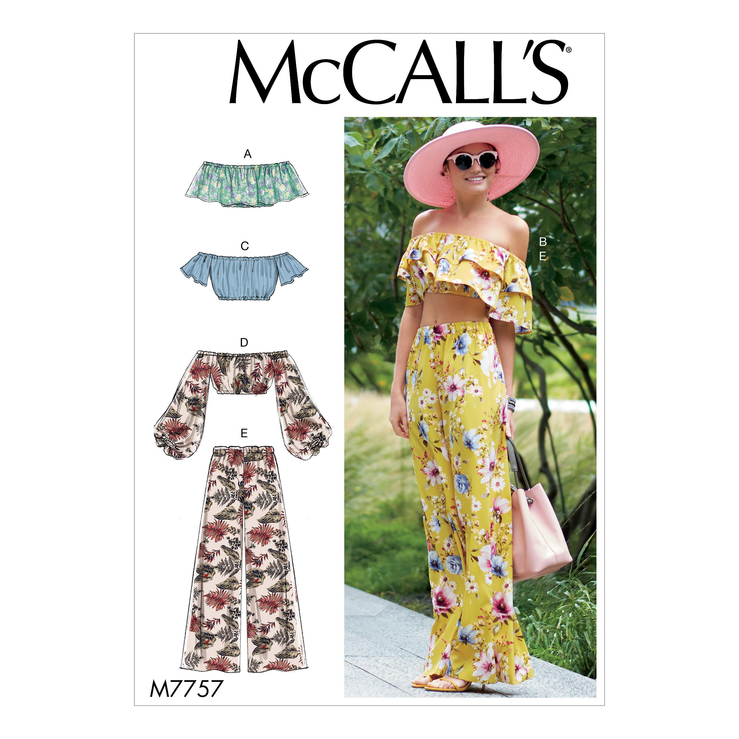 McCalls M7757 Misses Tops, Misses Pants, Jumpsuits & Shorts, Misses Coordinates