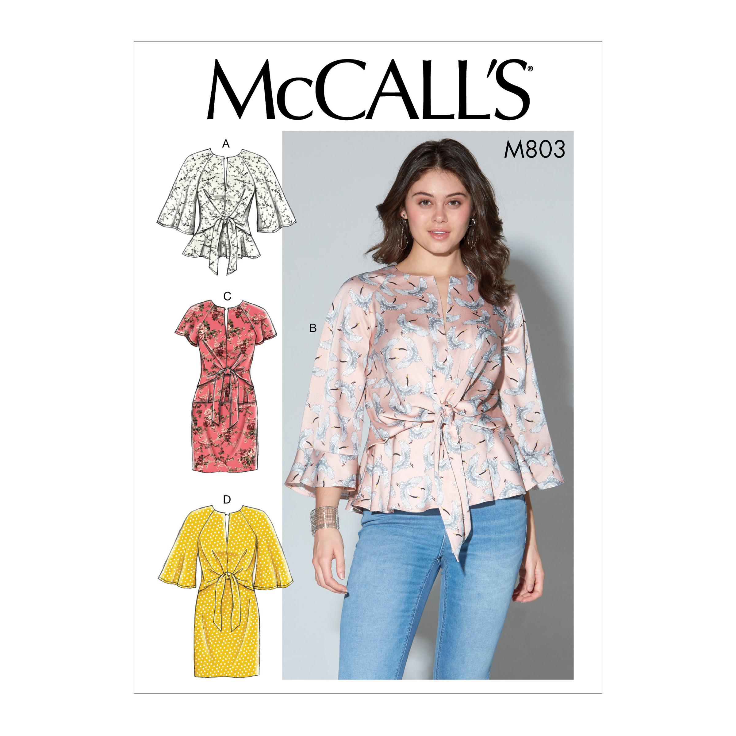 McCalls M7803 Misses Tops