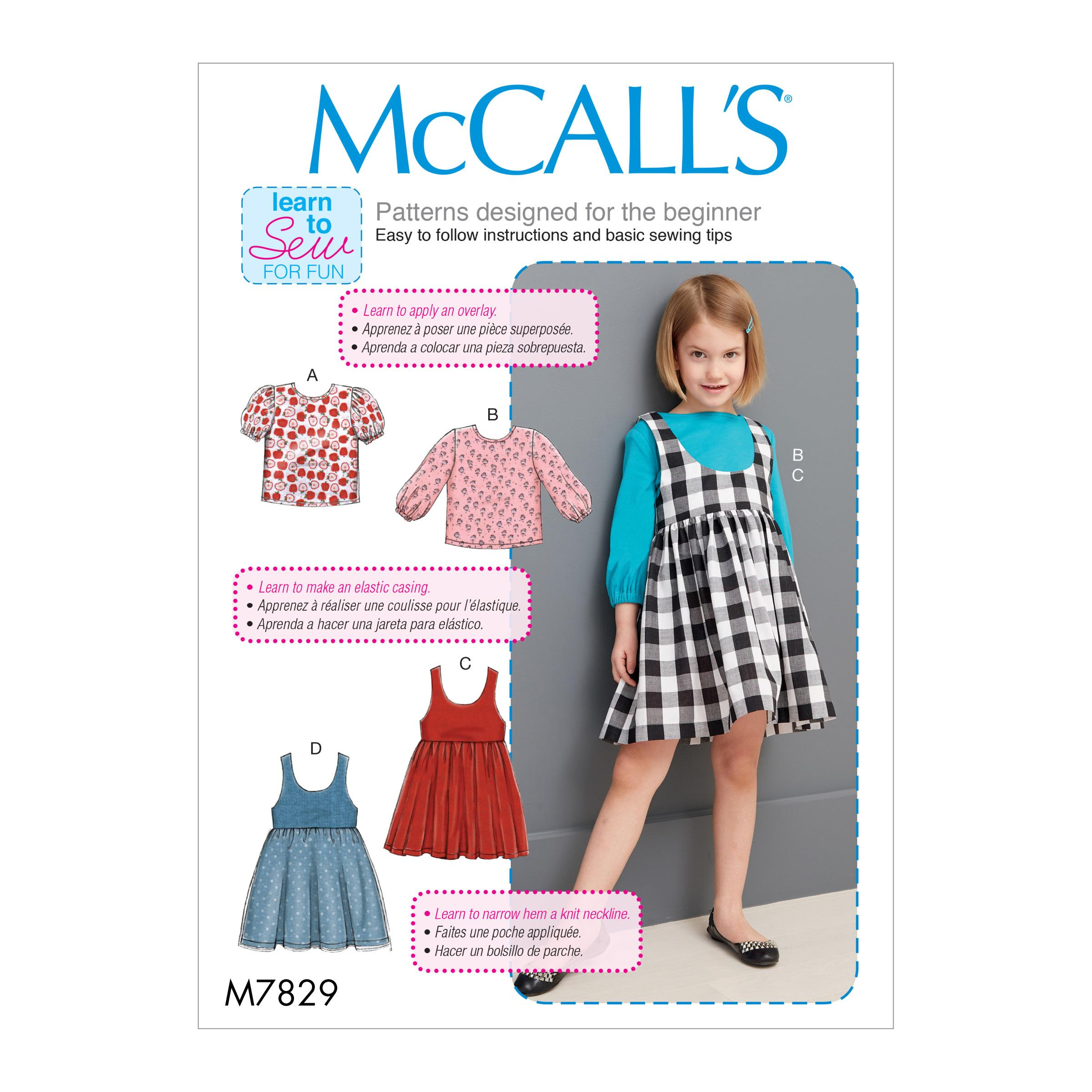 McCalls M7829 Kids Children, Kids Girls & Boys