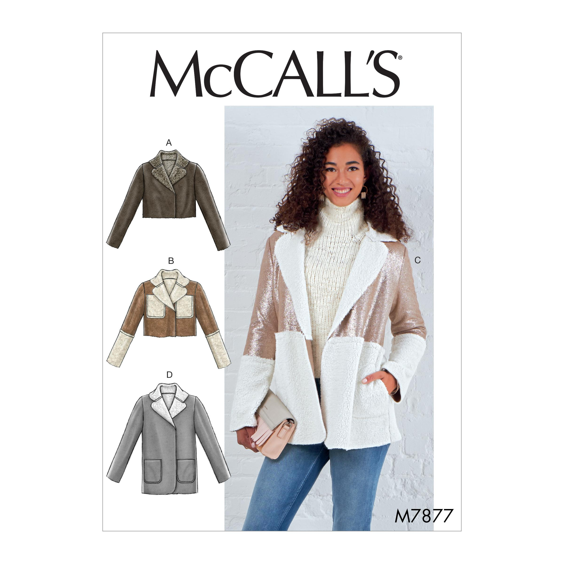 McCalls M7877 Misses Jackets & Vests