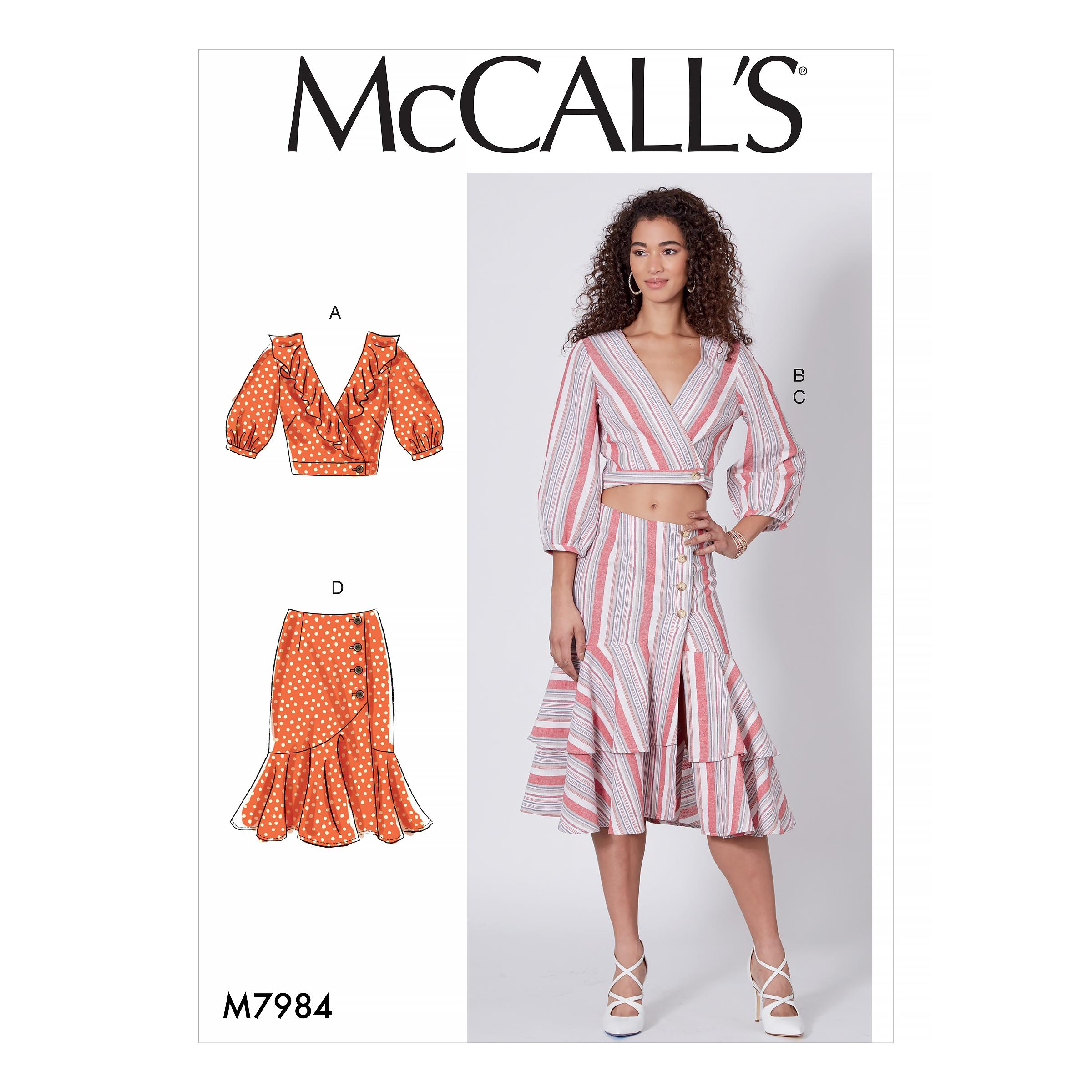 McCalls M7984 Misses Tops, Misses Skirts, Misses Coordinates