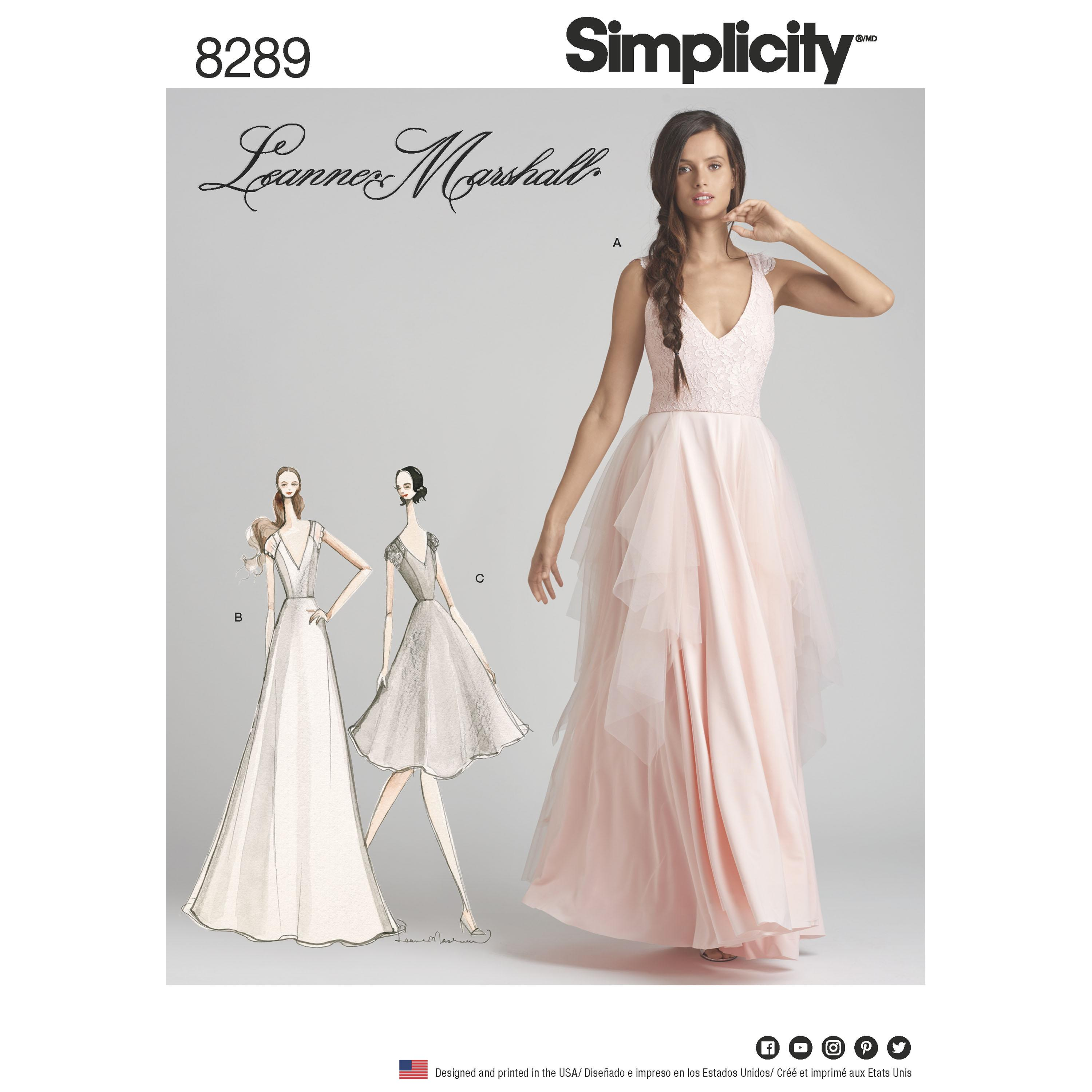 Simplicity S8289 Women's Special Occasion Dresses