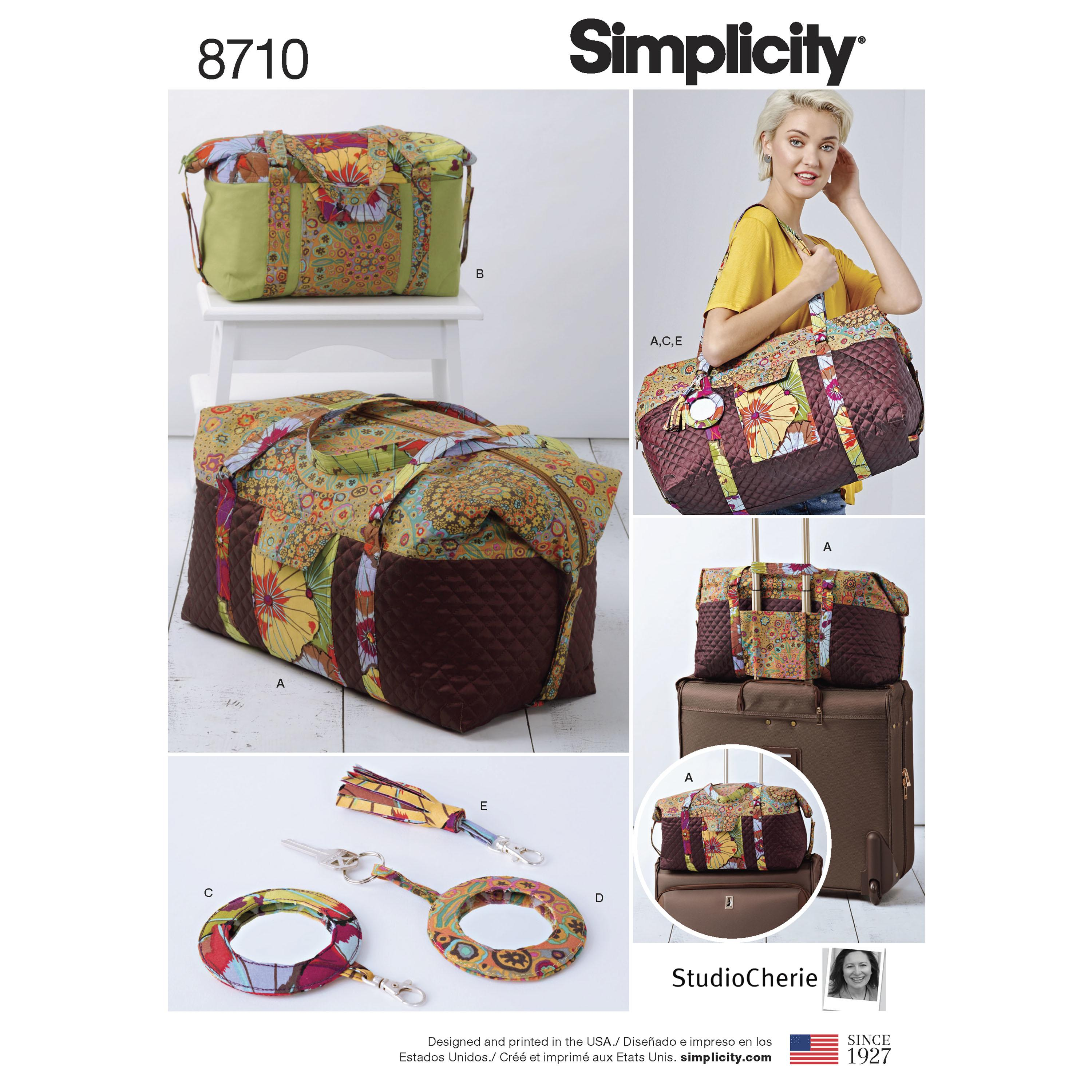 Simplicity S8710 Luggage Bags, Key Ring and Tassel
