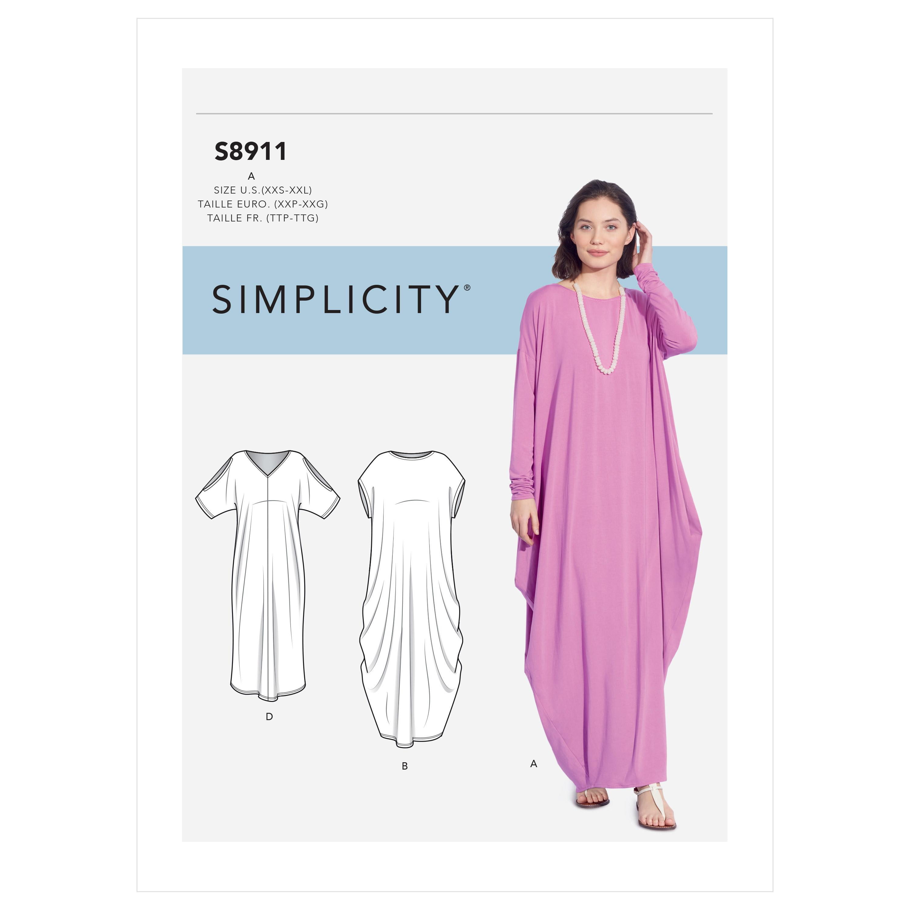 Simplicity S8911 Misses' Knit Caftans