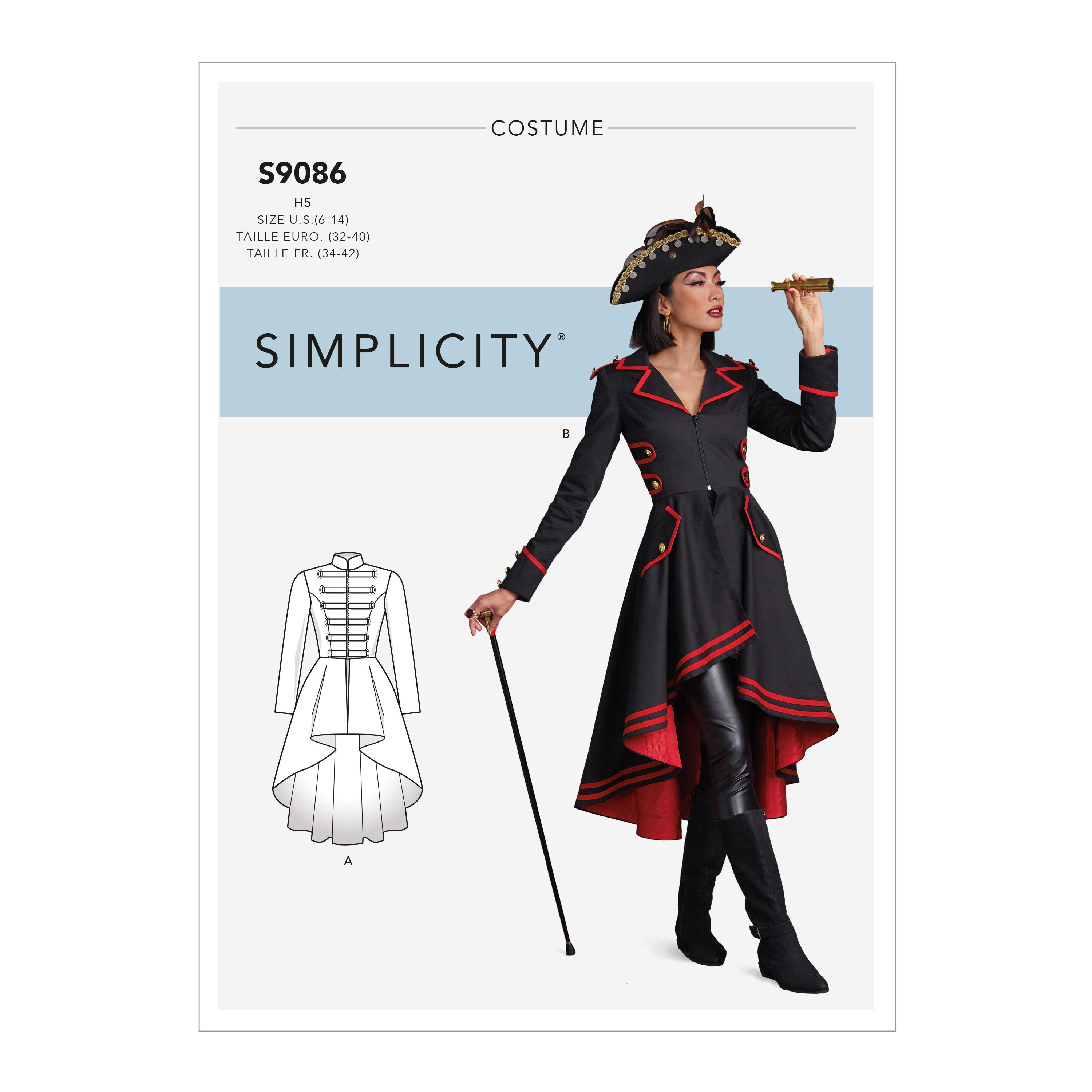 Simplicity S9086 Misses' Steampunk Costume Coats