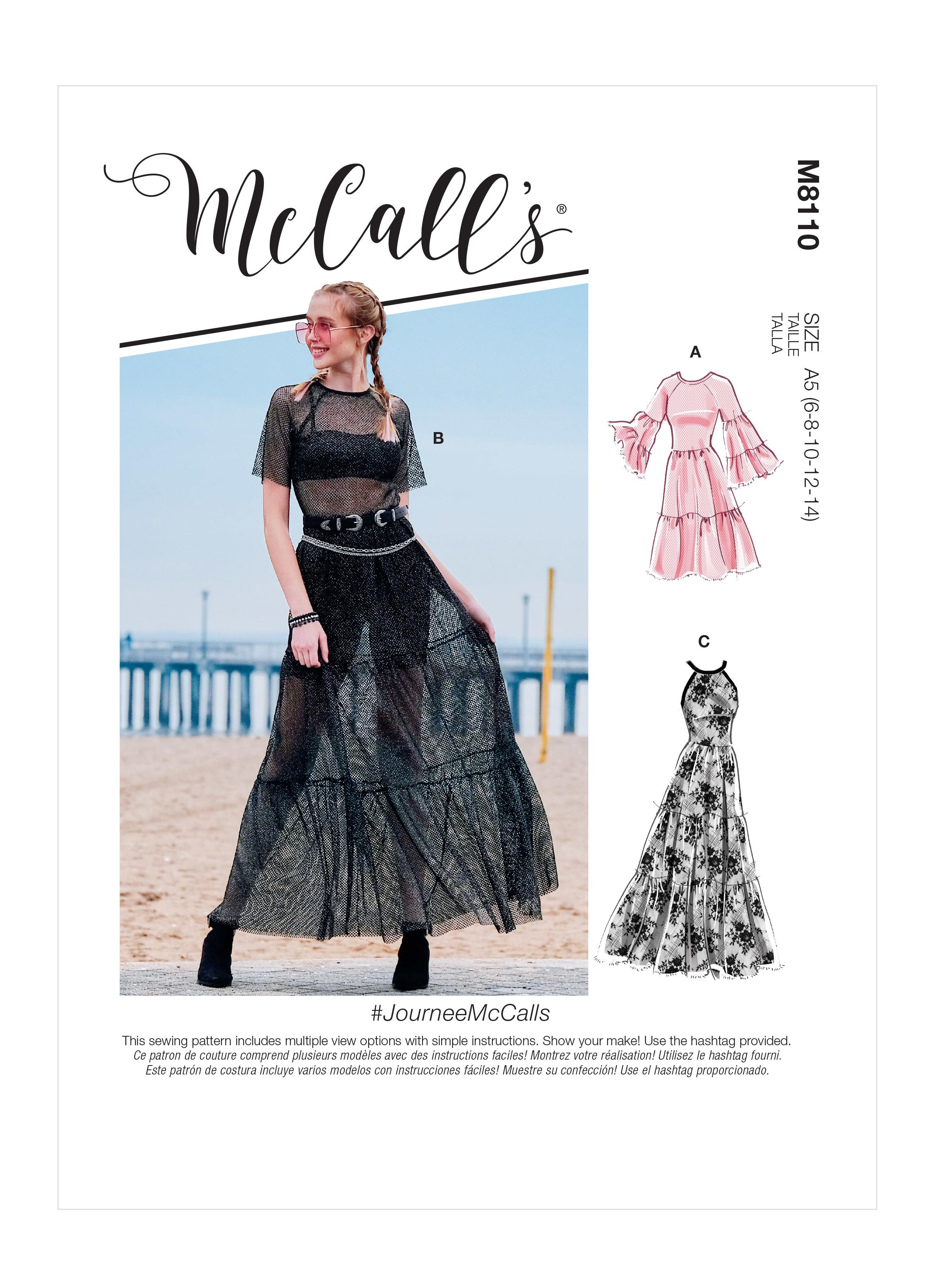 McCalls M8110 #JourneeMcCalls - Misses' Dresses