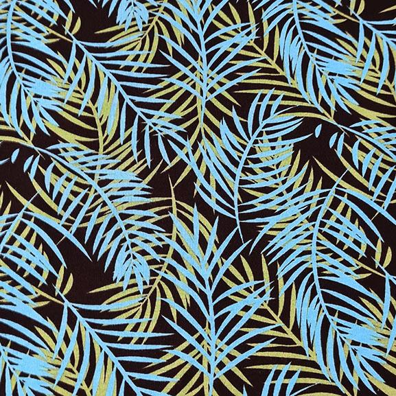 Small Blue and Green Palm Leaves Jersey