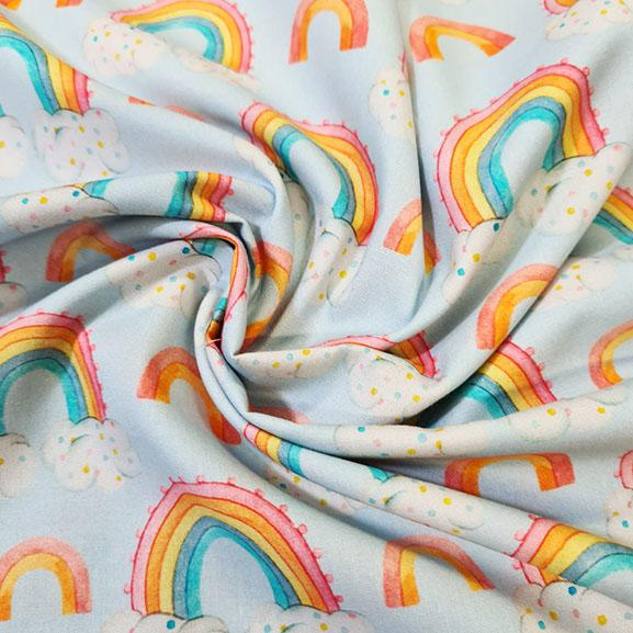 Rainbow Clouds Digital Cotton