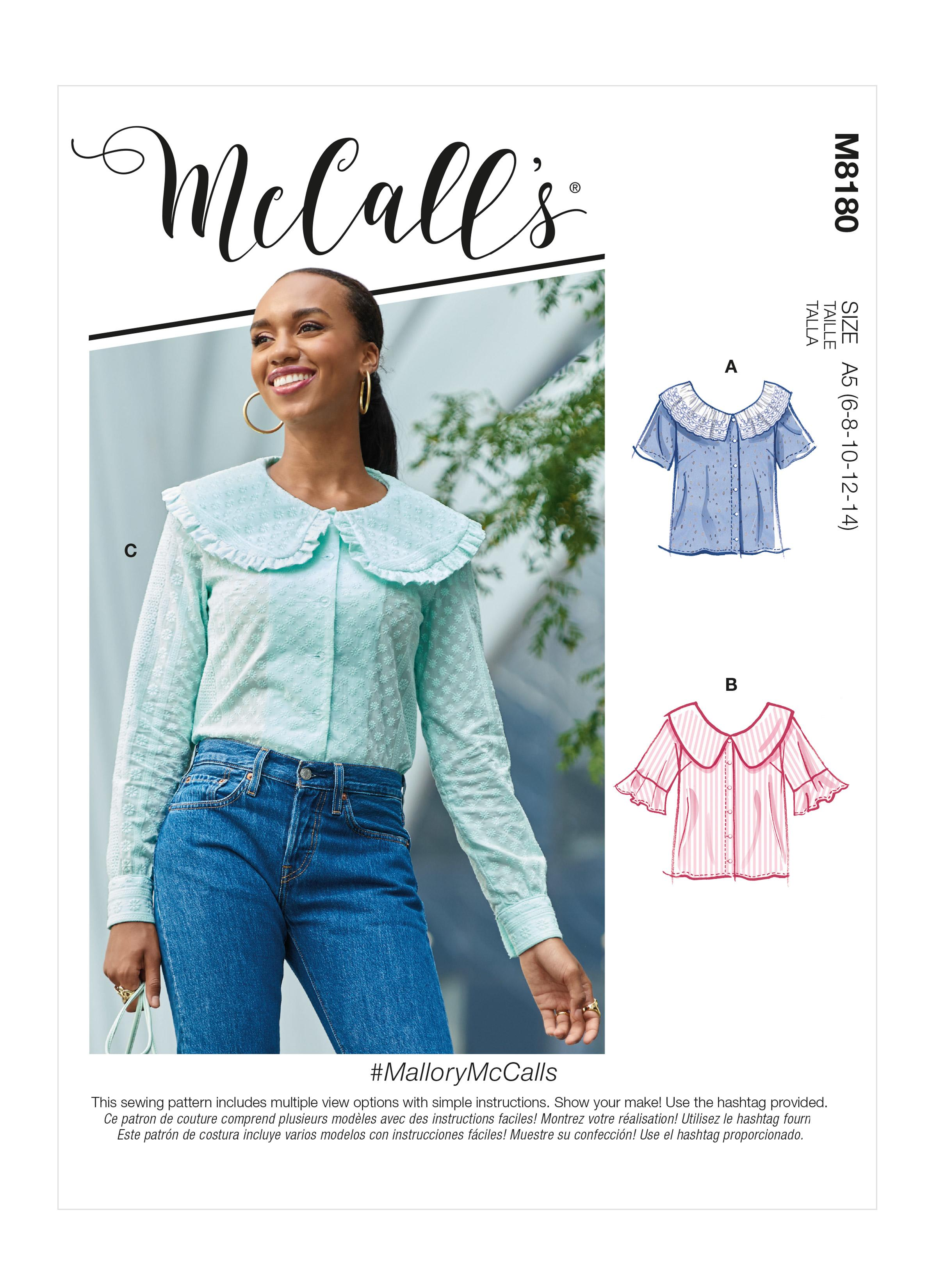 McCall's M8180 #MalloryMcCalls - Misses' Tops