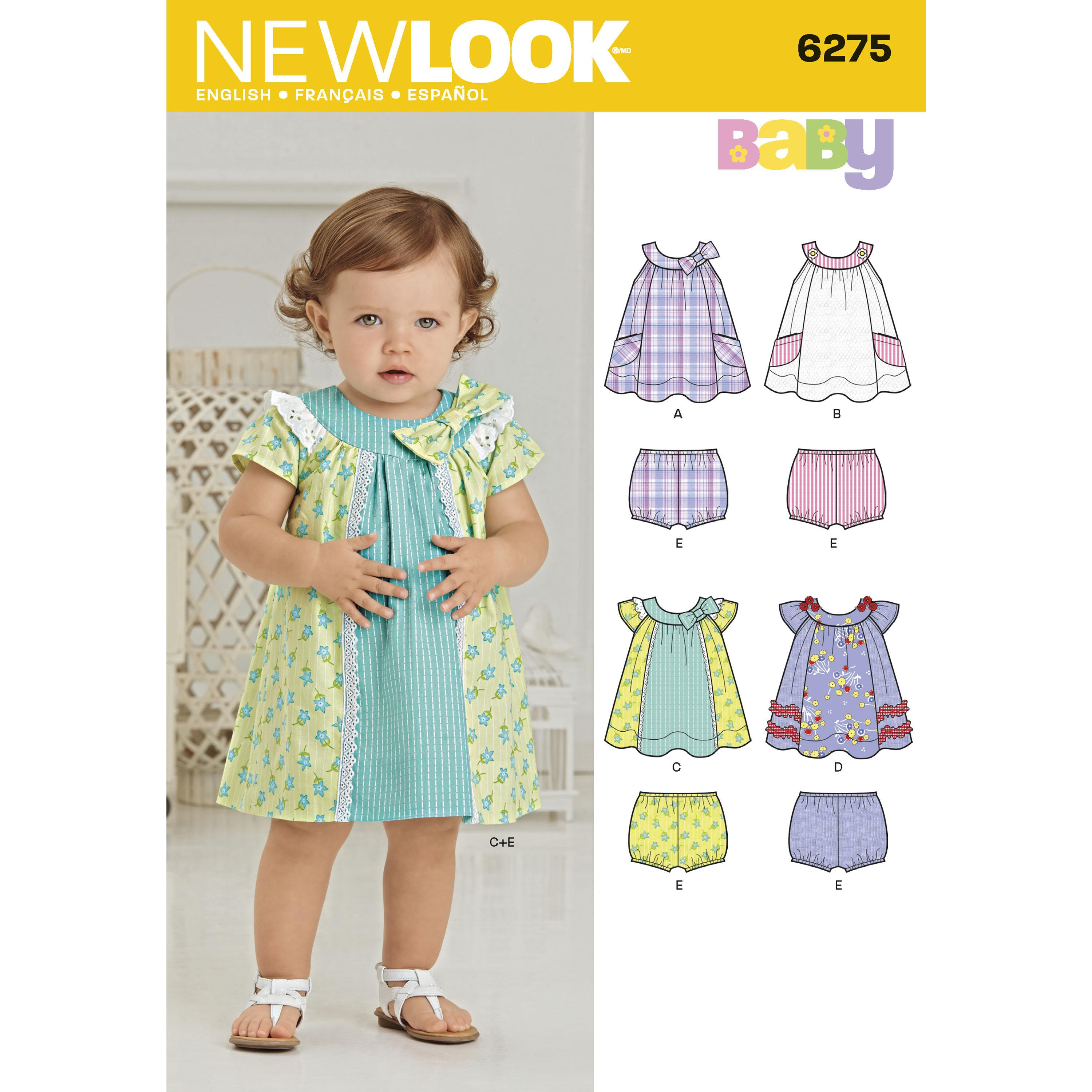 NewLook N6275 Babies' Dress and Panties