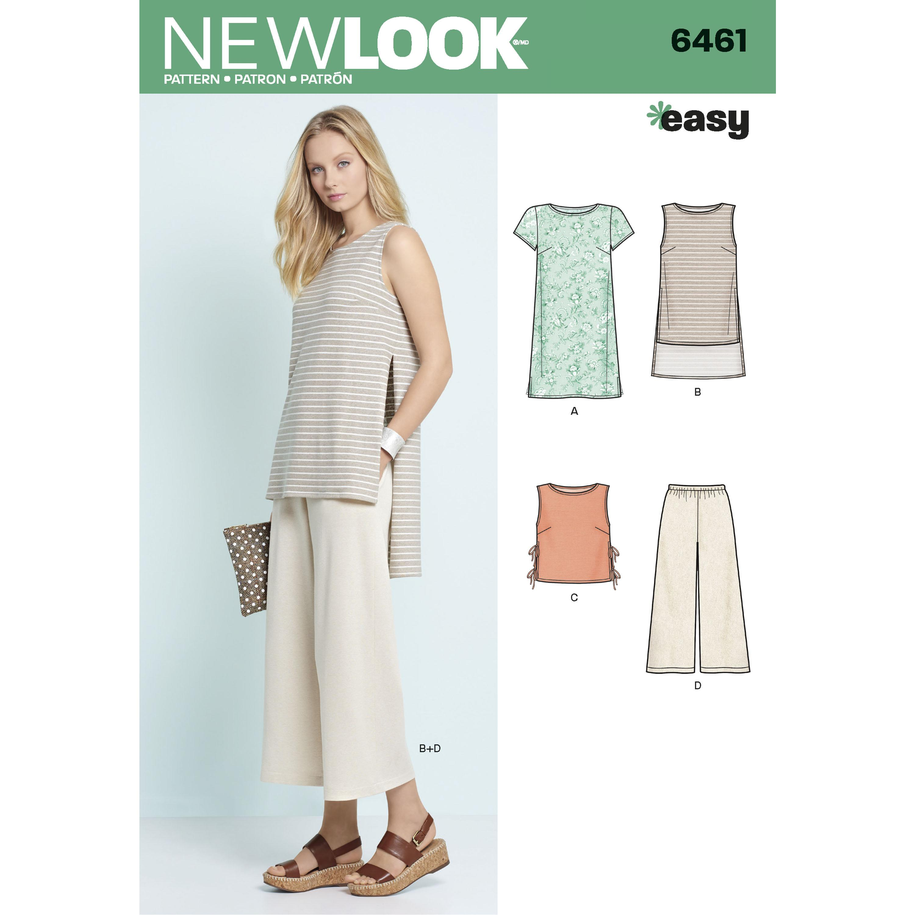 NewLook N6461 Misses' Dress, Tunic, Top and Cropped Pants