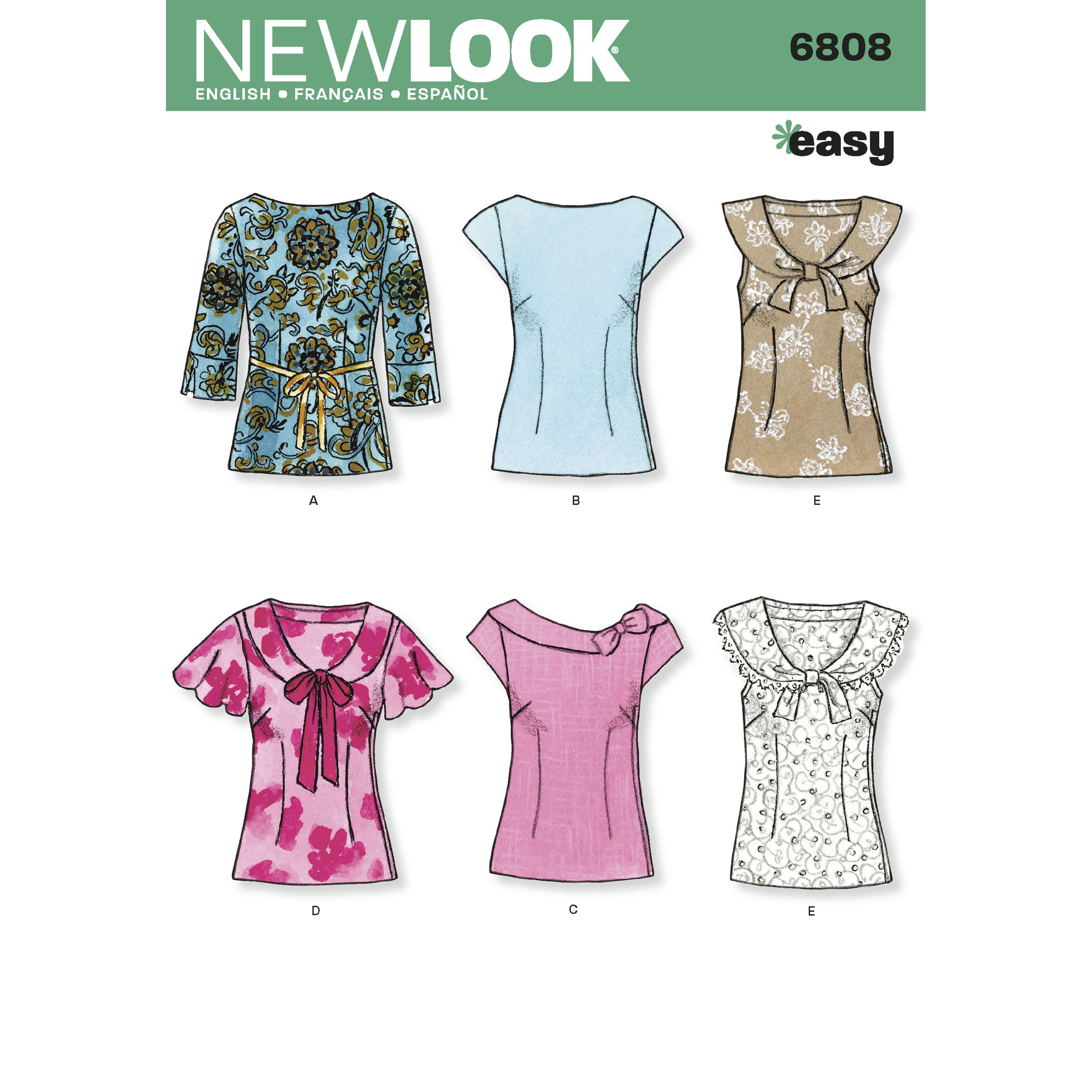 NewLook N6808 Misses Tops