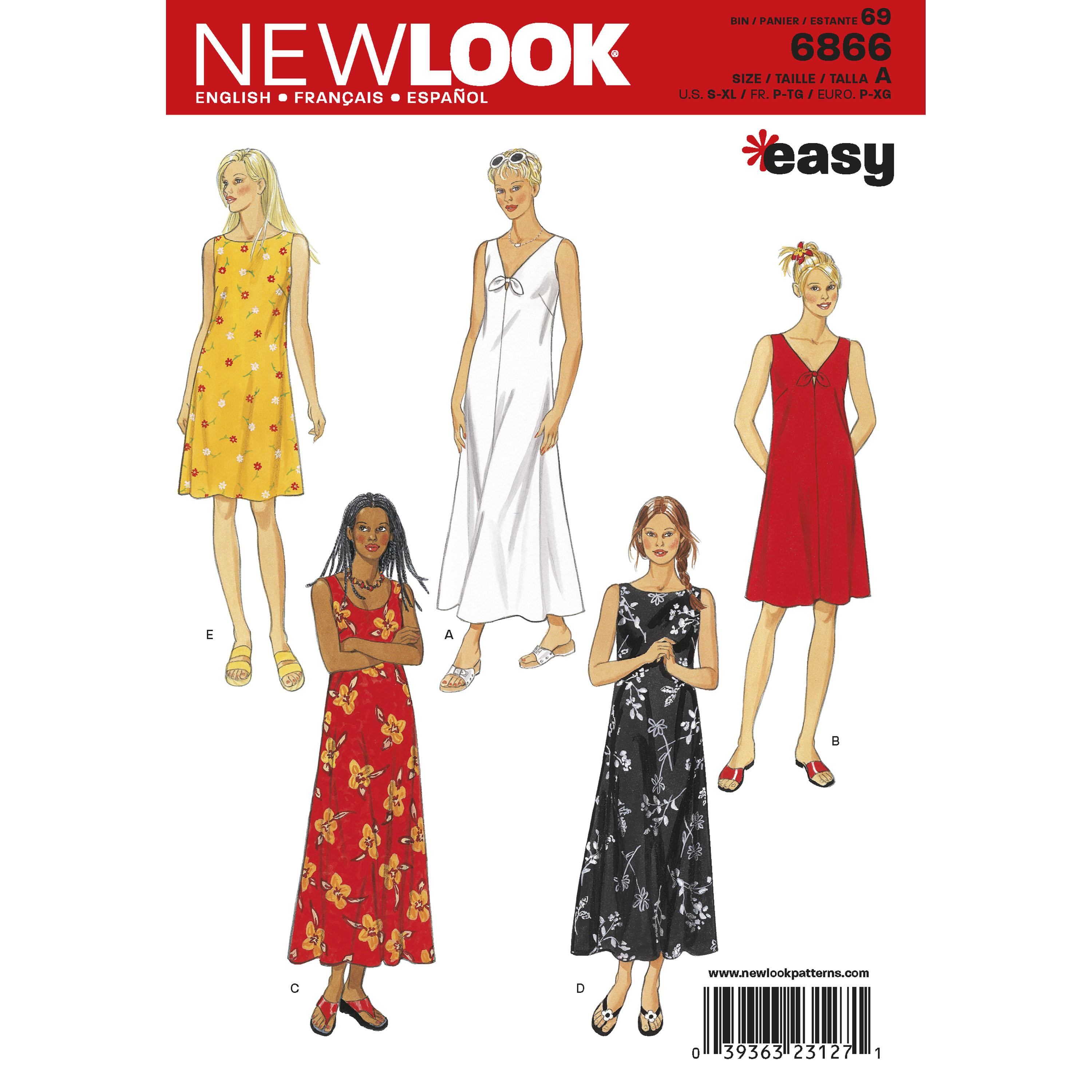 NewLook N6866 Misses Dresses