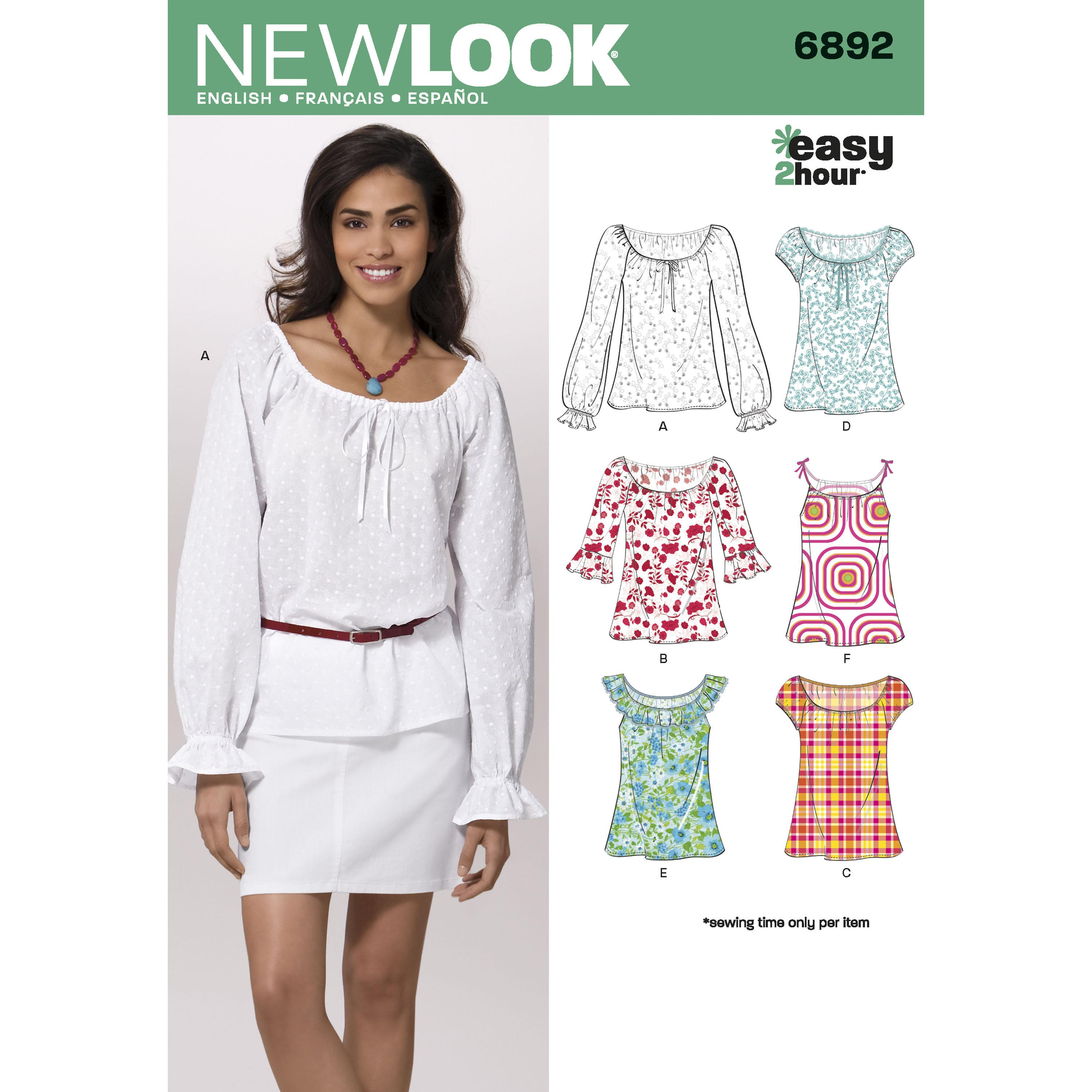 NewLook N6892 Misses Tops