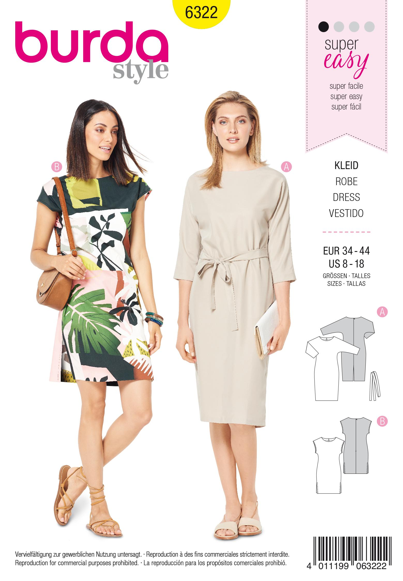 Burda 6322 Misses' dress