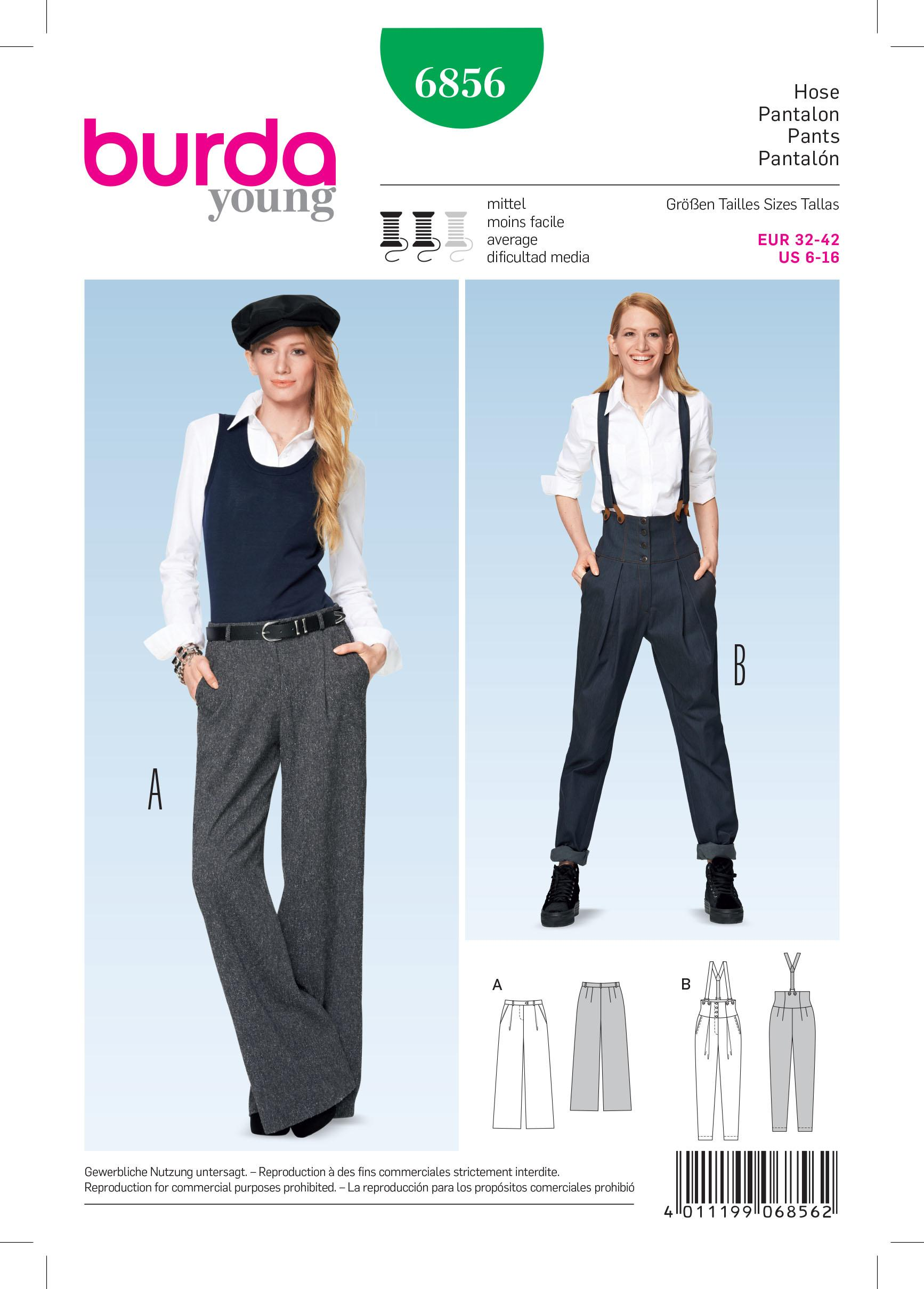 Burda B6856 Trousers & Jumpsuit Sewing Pattern
