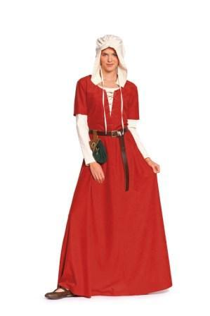Burda B7468 Dress & Bonnet Middle Ages Sewing Pattern