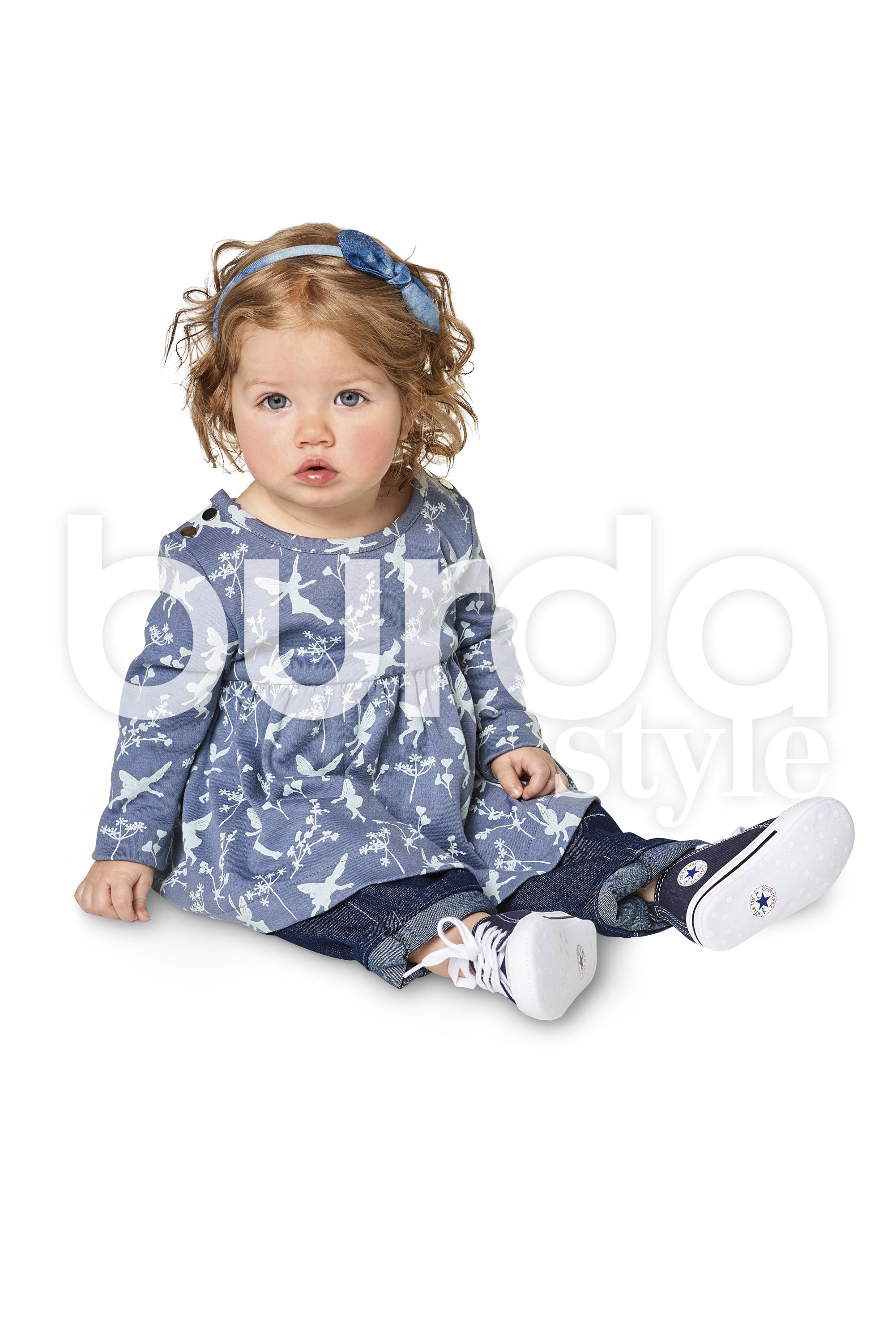 Burda B9347 Baby's Dress and Bodysuit