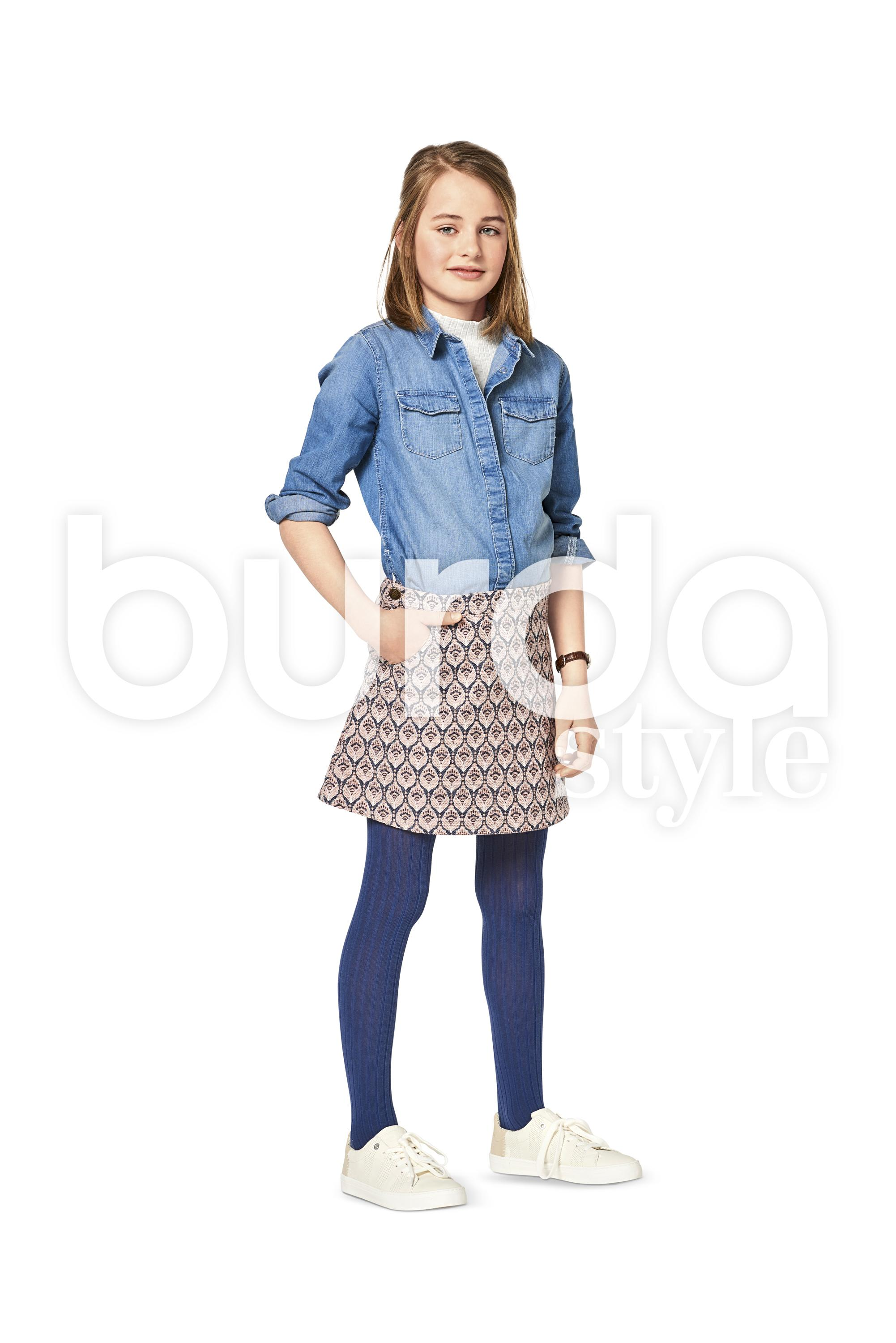 Burda B9356 Girl/Girl Plus Skirt