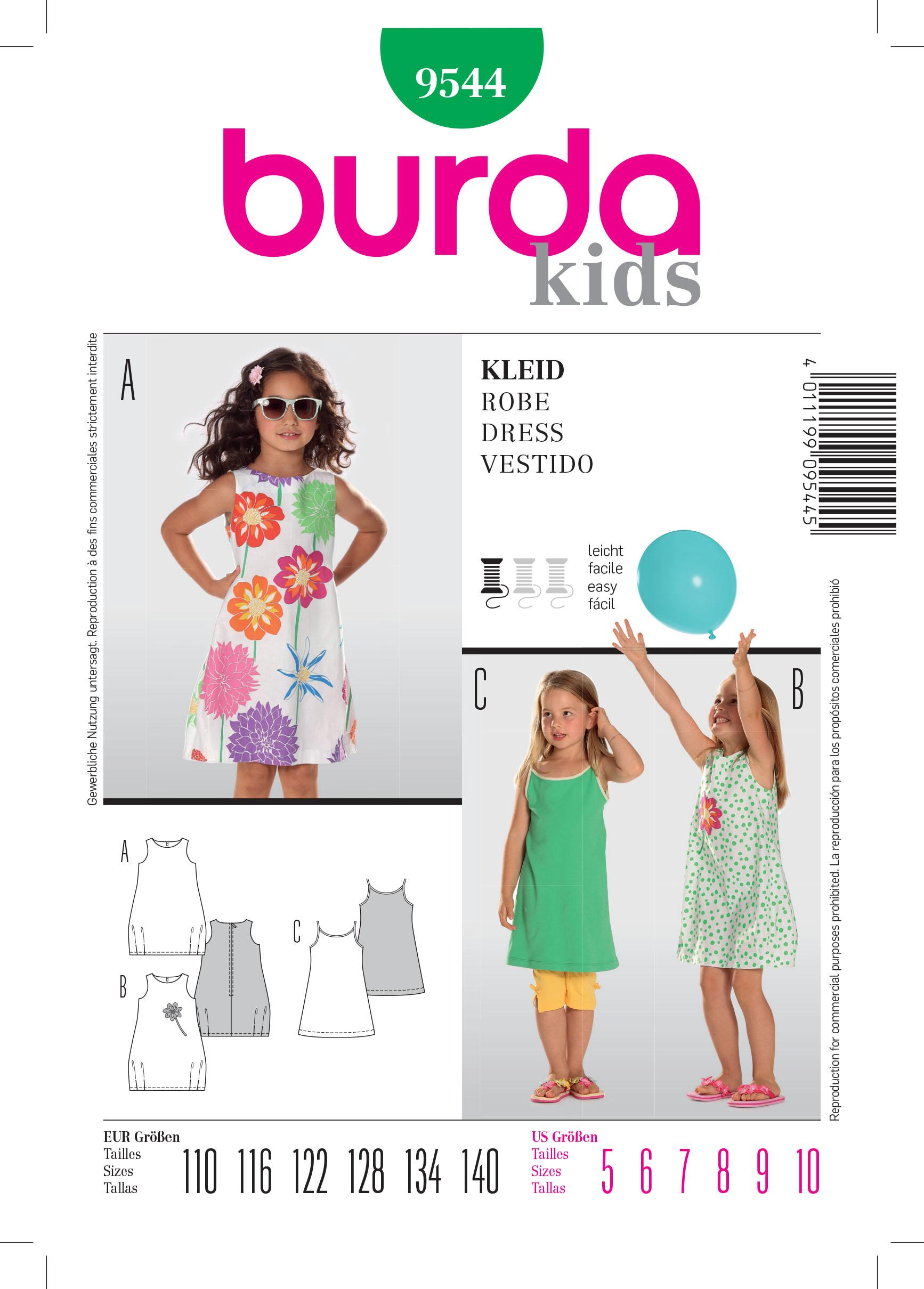 Burda B9544 Dress Sewing Pattern