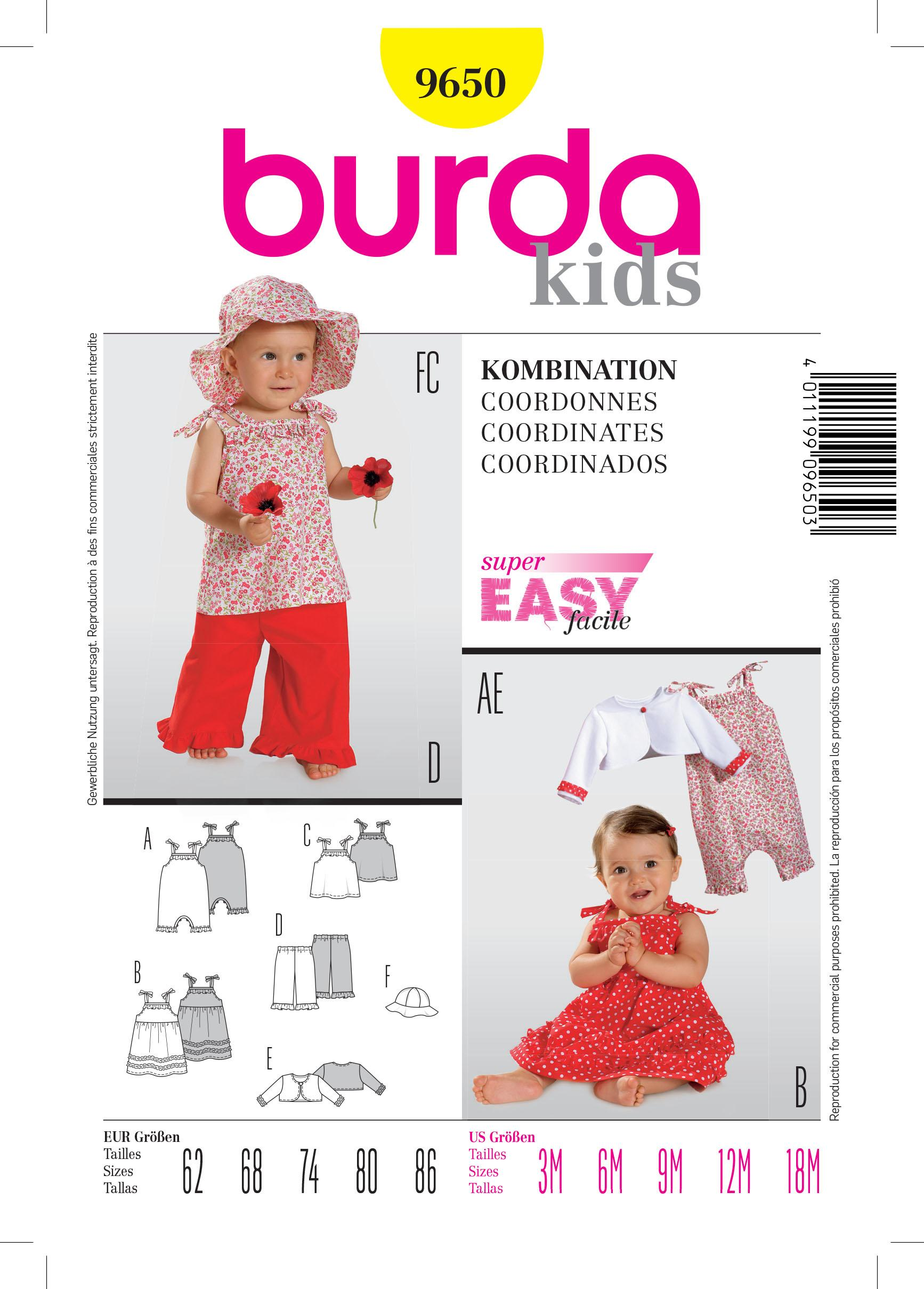 Burda B9650 Coordinates Sewing Pattern