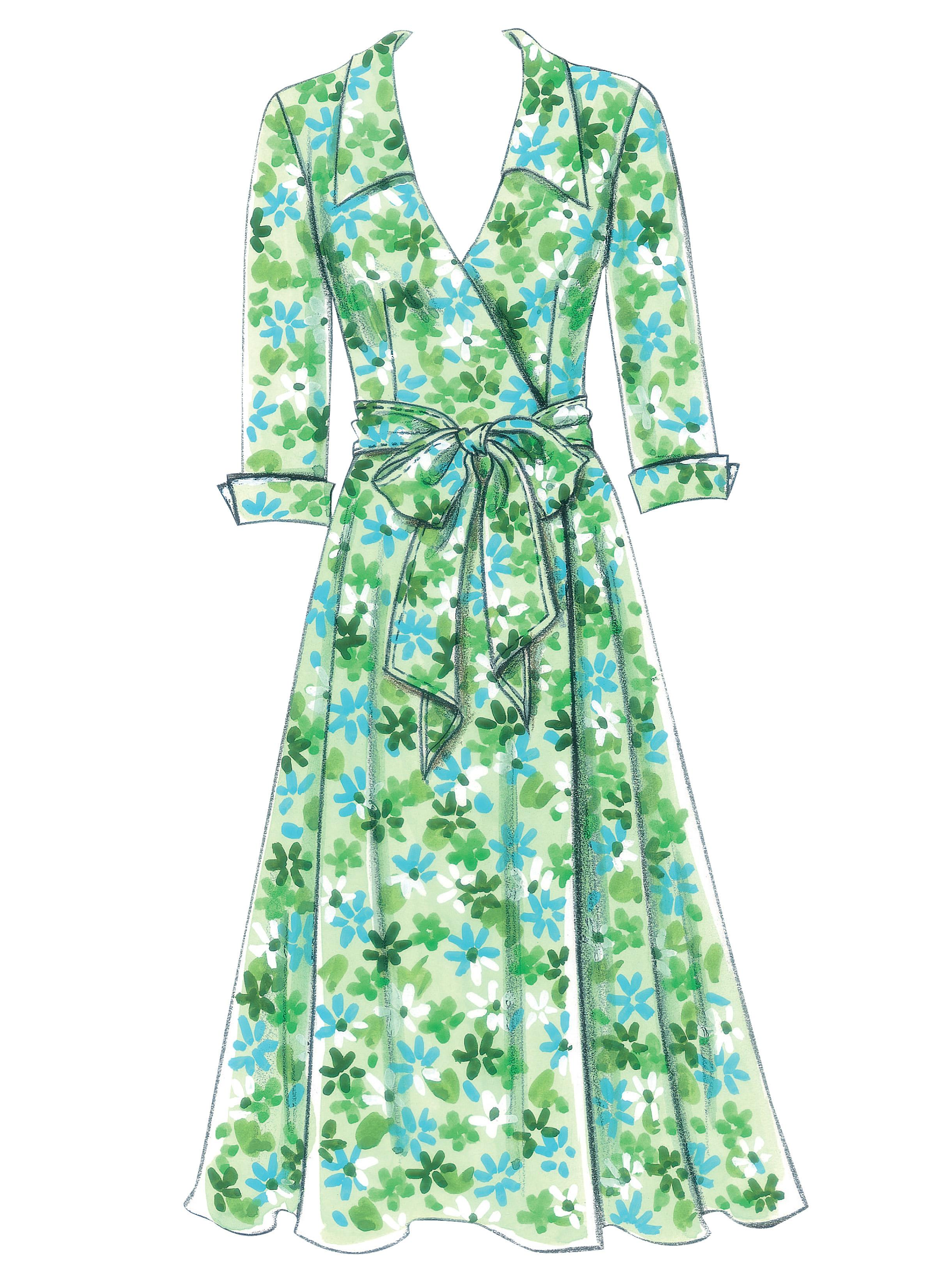 Butterick B5030 Misses' Dress, Belt and Sash