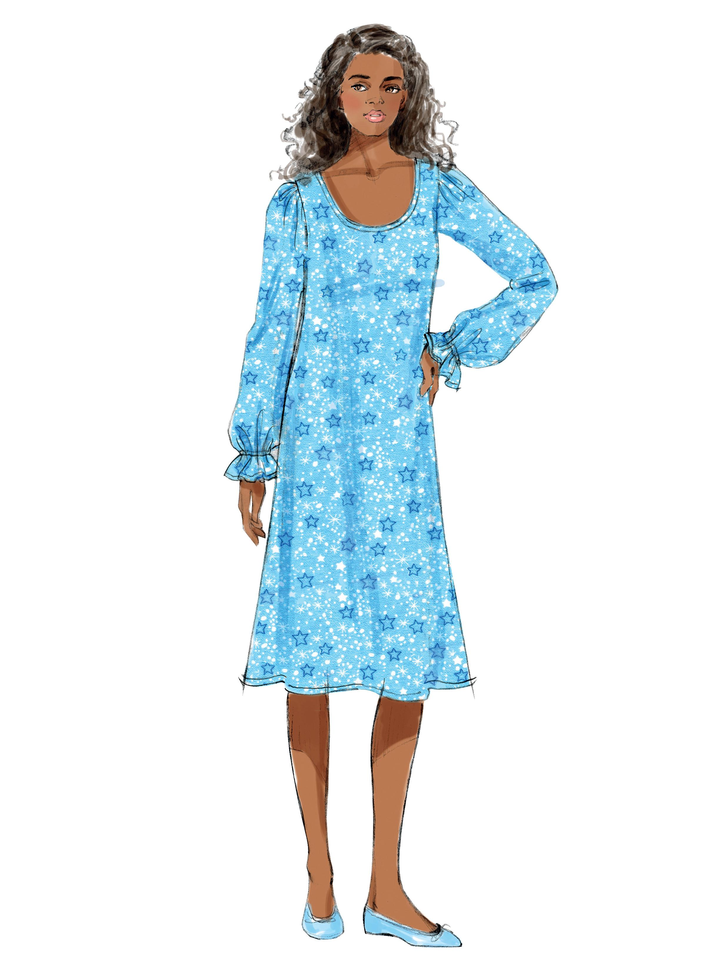 Butterick B5792 Misses' Top, Gown and Pants