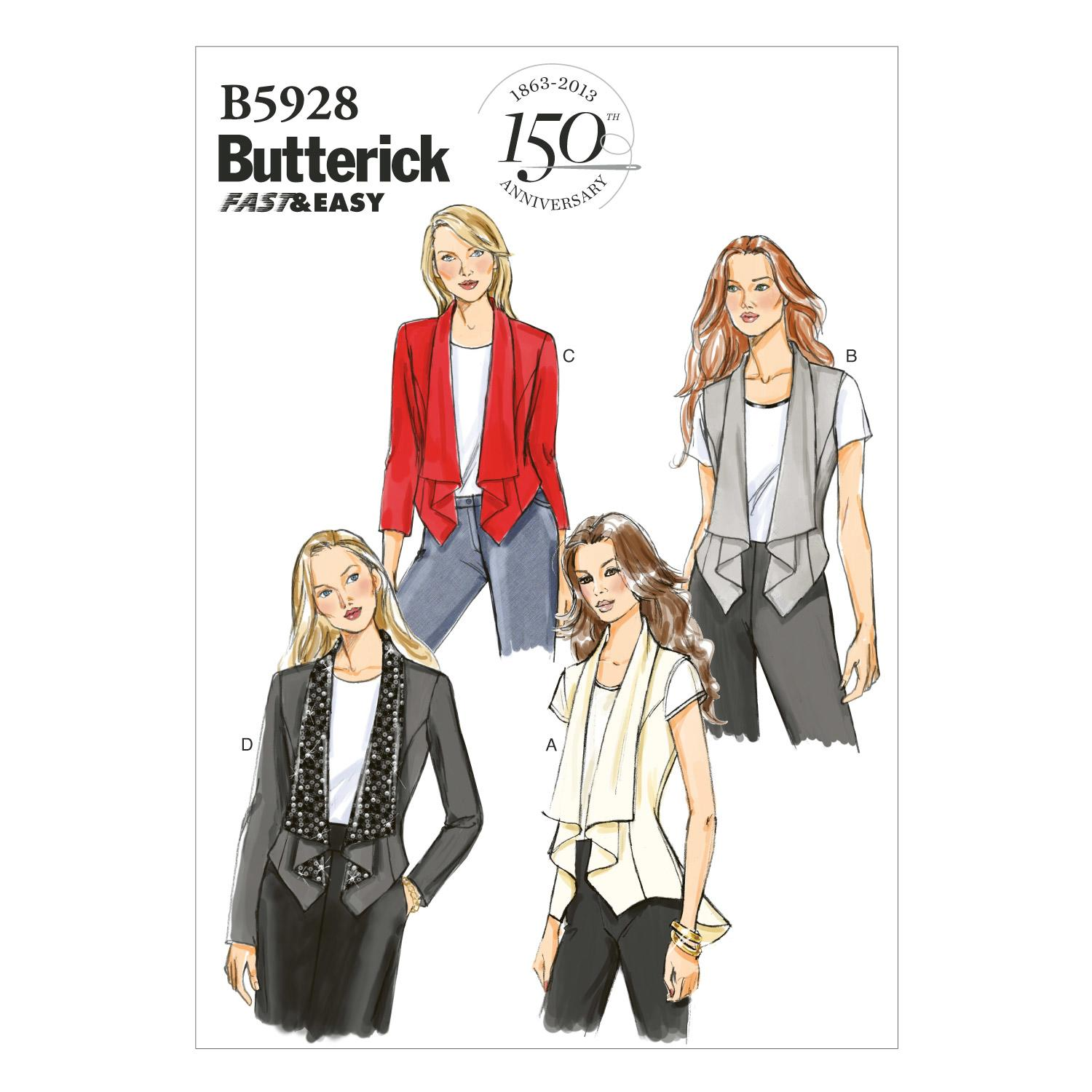 Butterick B5928 Misses' Vest and Jacket