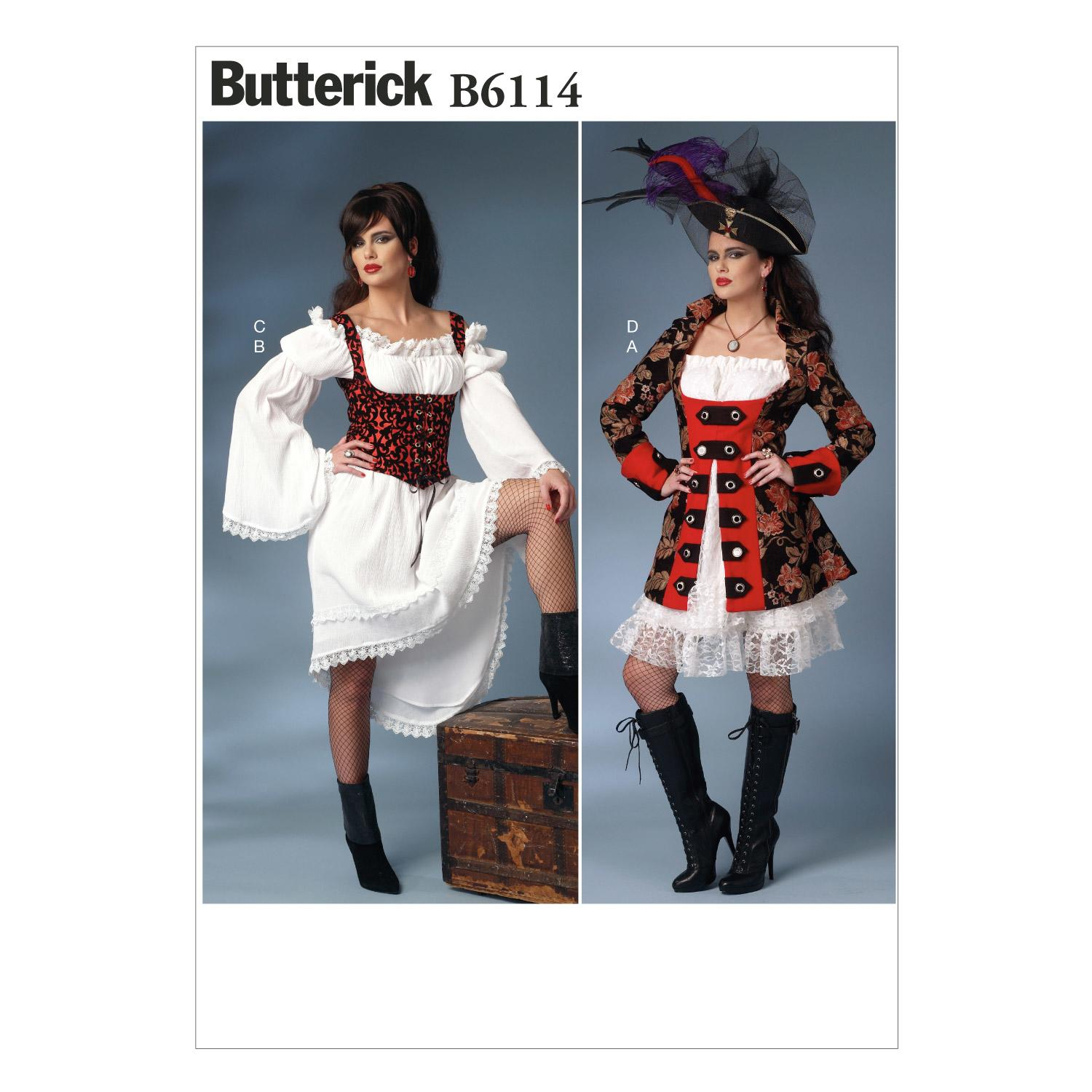 Butterick B6114 Misses' Costume