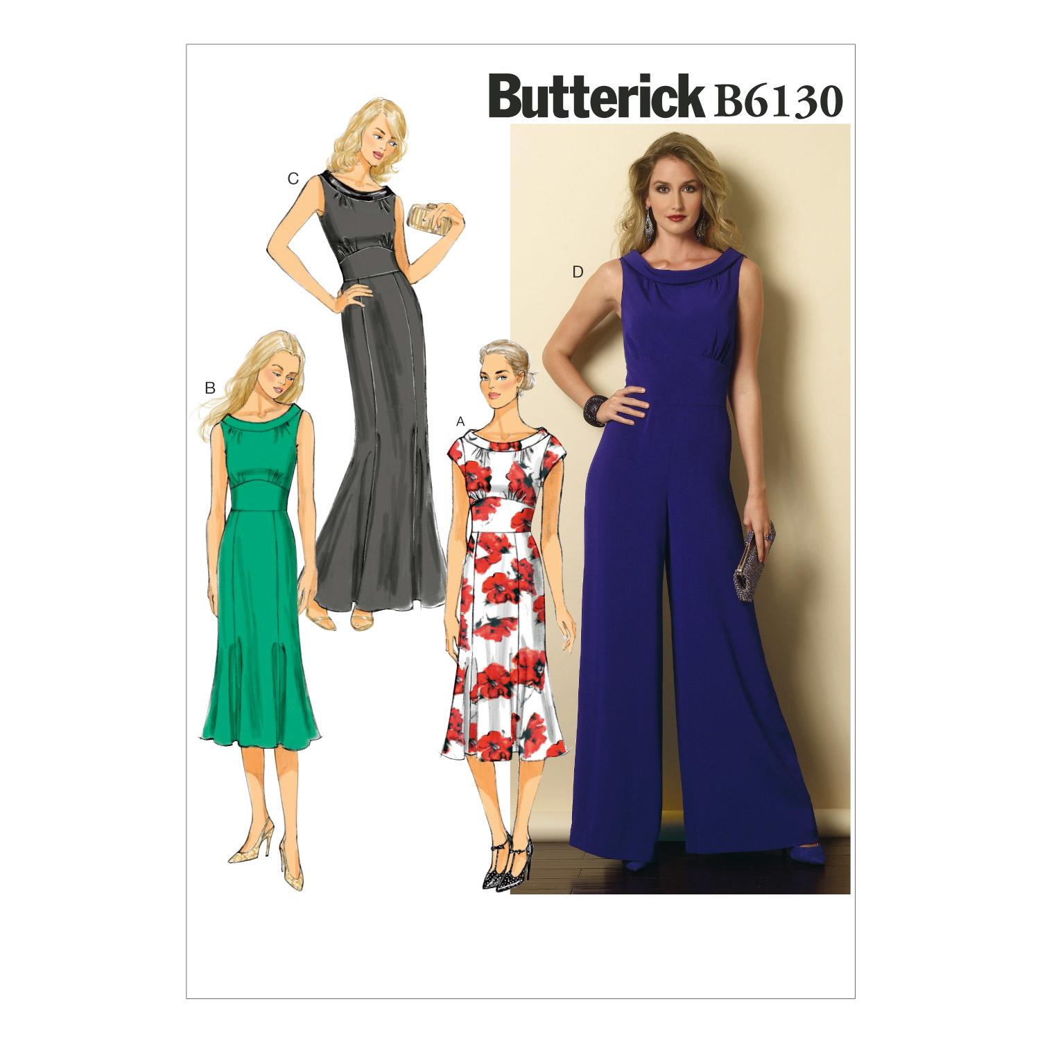 Butterick B6130 Misses' Dress and Jumpsuit