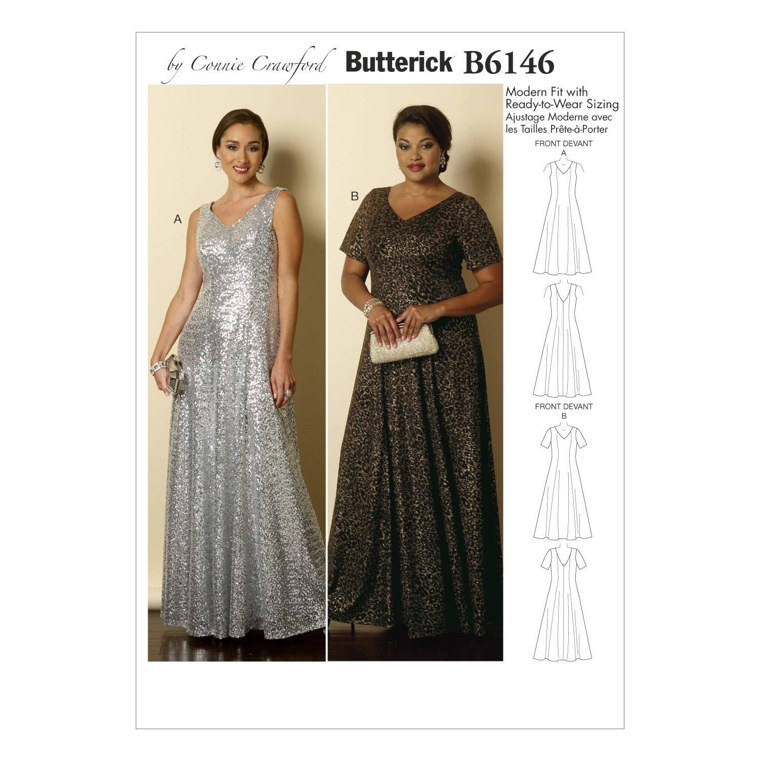 Butterick B6146 Misses'/Women's Dress
