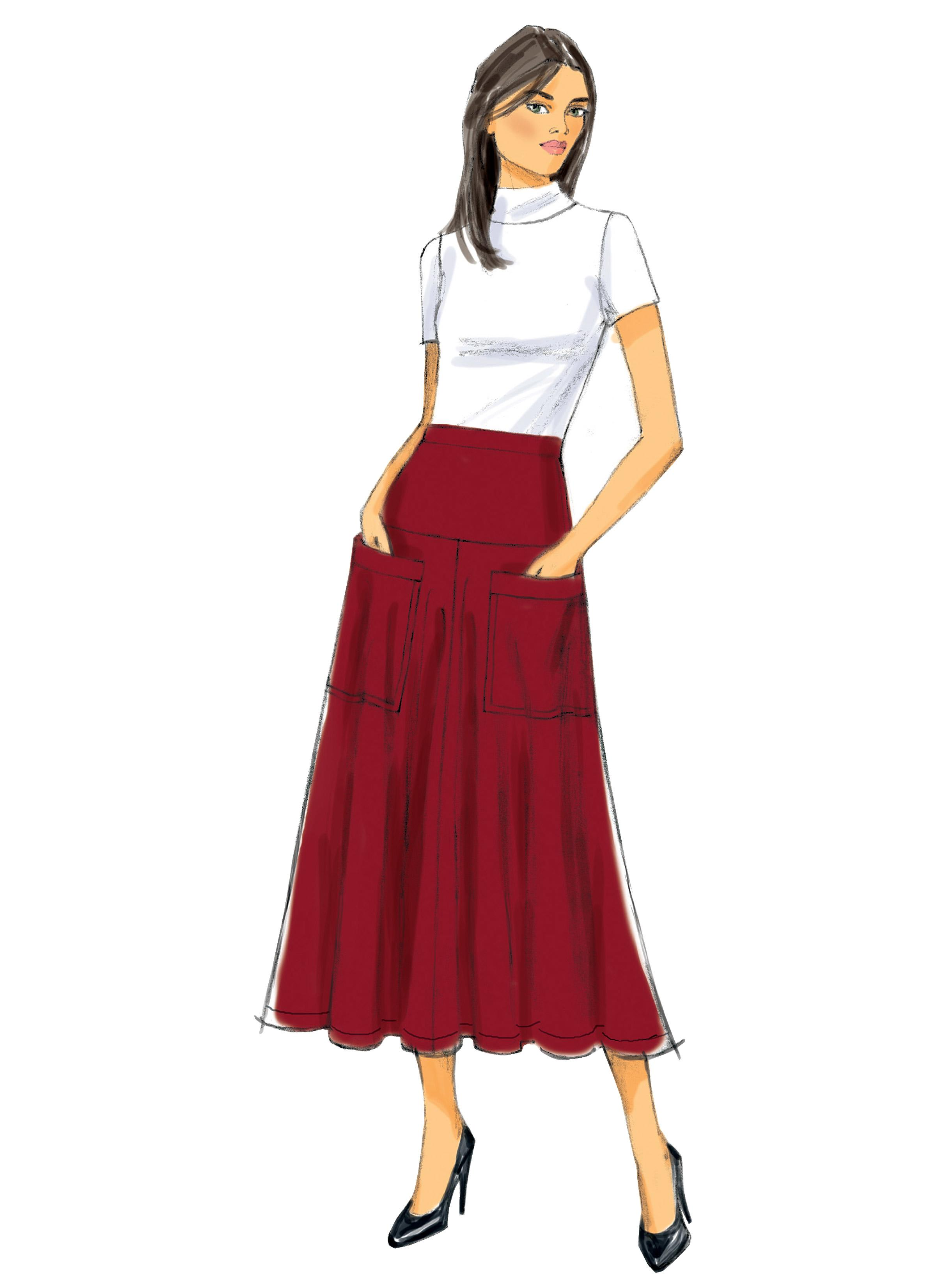 Butterick B6249 Misses' Skirt