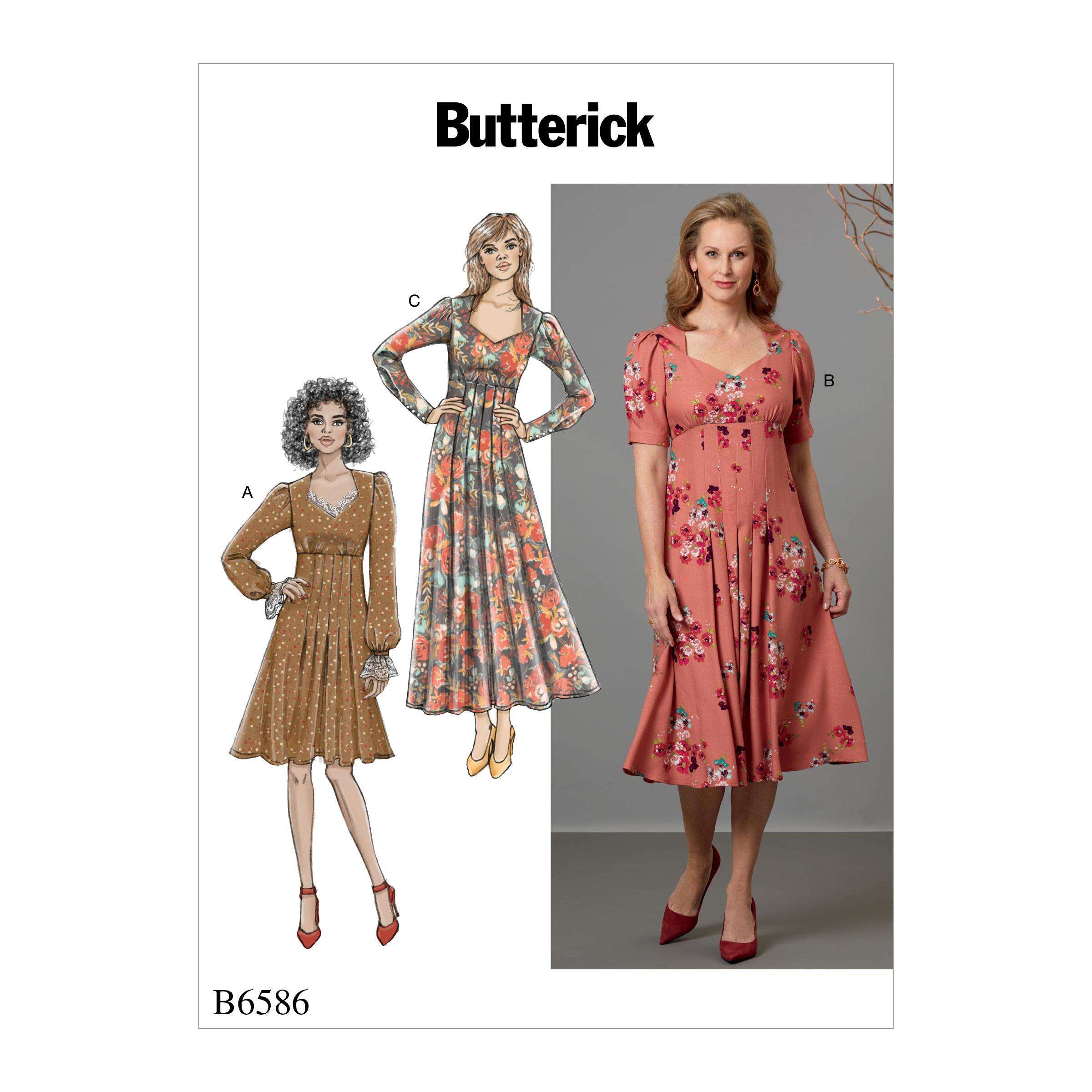 Butterick B6586 Misses' Dress