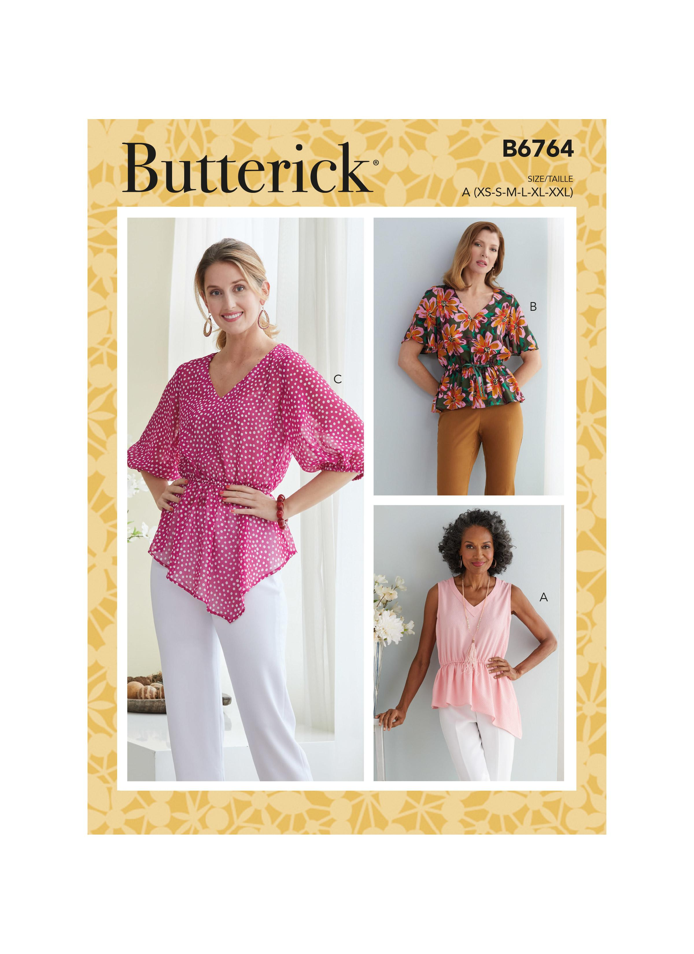 Butterick B6764 Misses' Tops