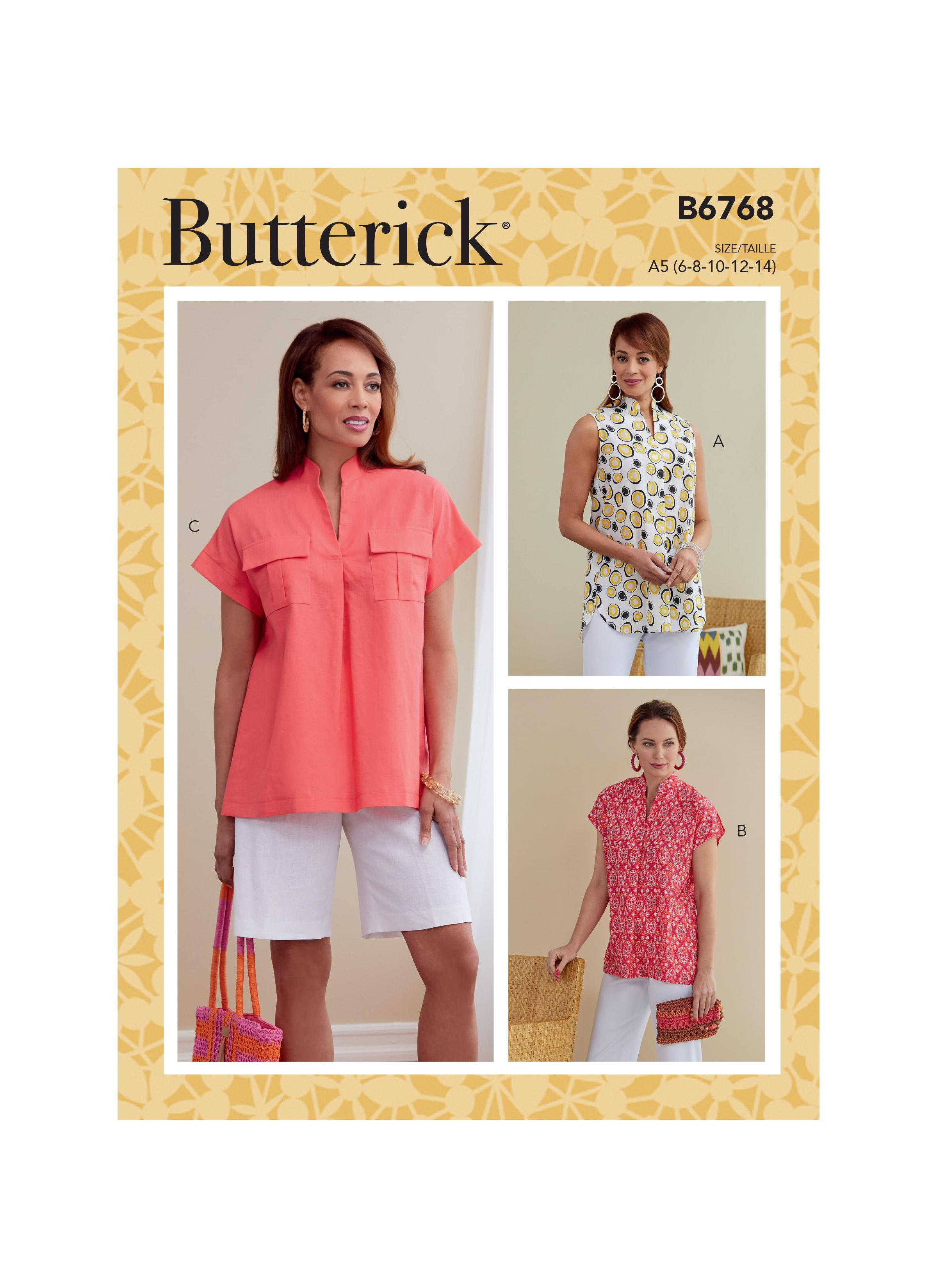 Butterick B6768 Misses' Top