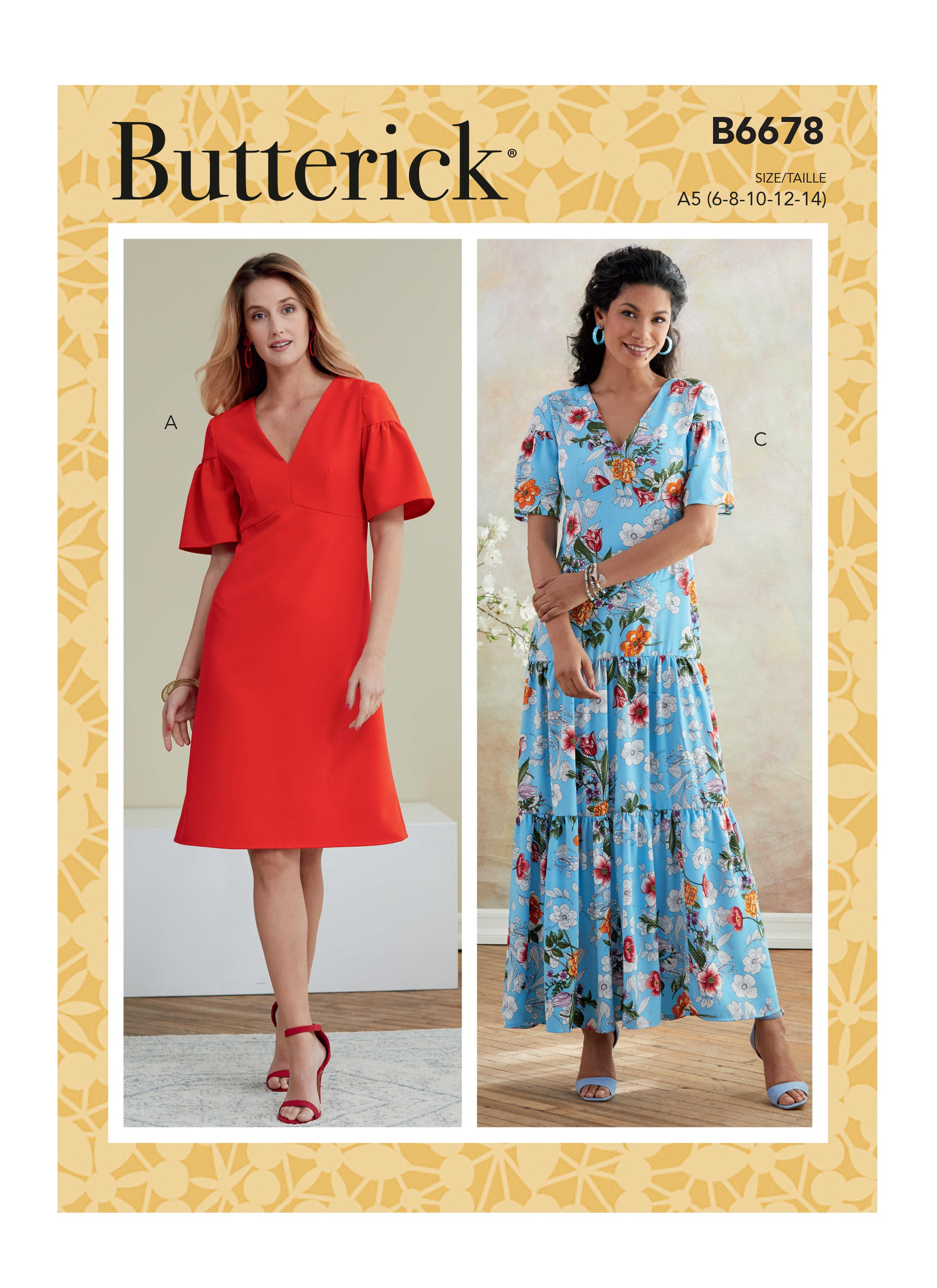 Butterick B6678 Misses'/Misses' Petite Dress