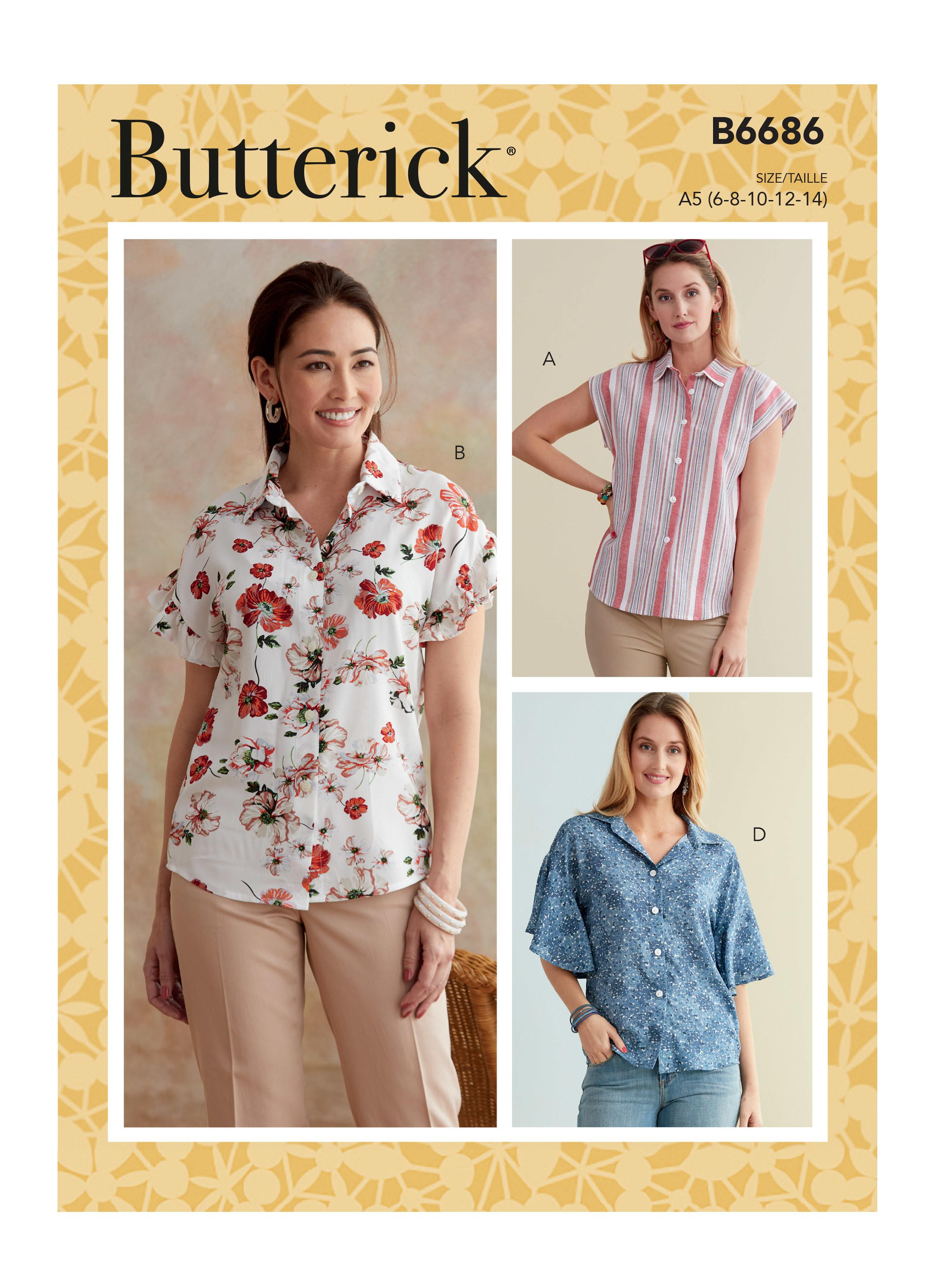 Butterick B6686 Misses' Top