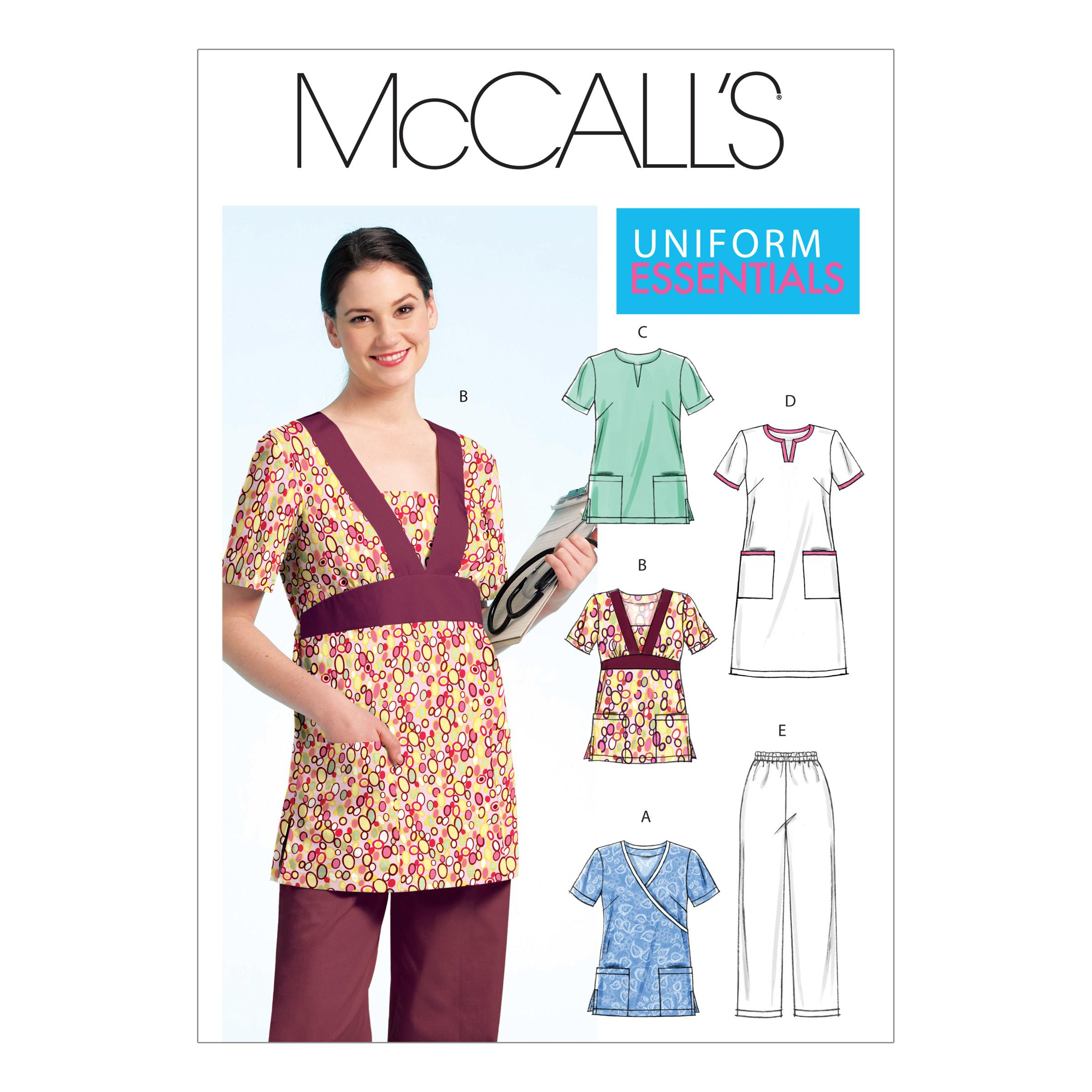 McCalls M5895 Plus Size, Uniforms