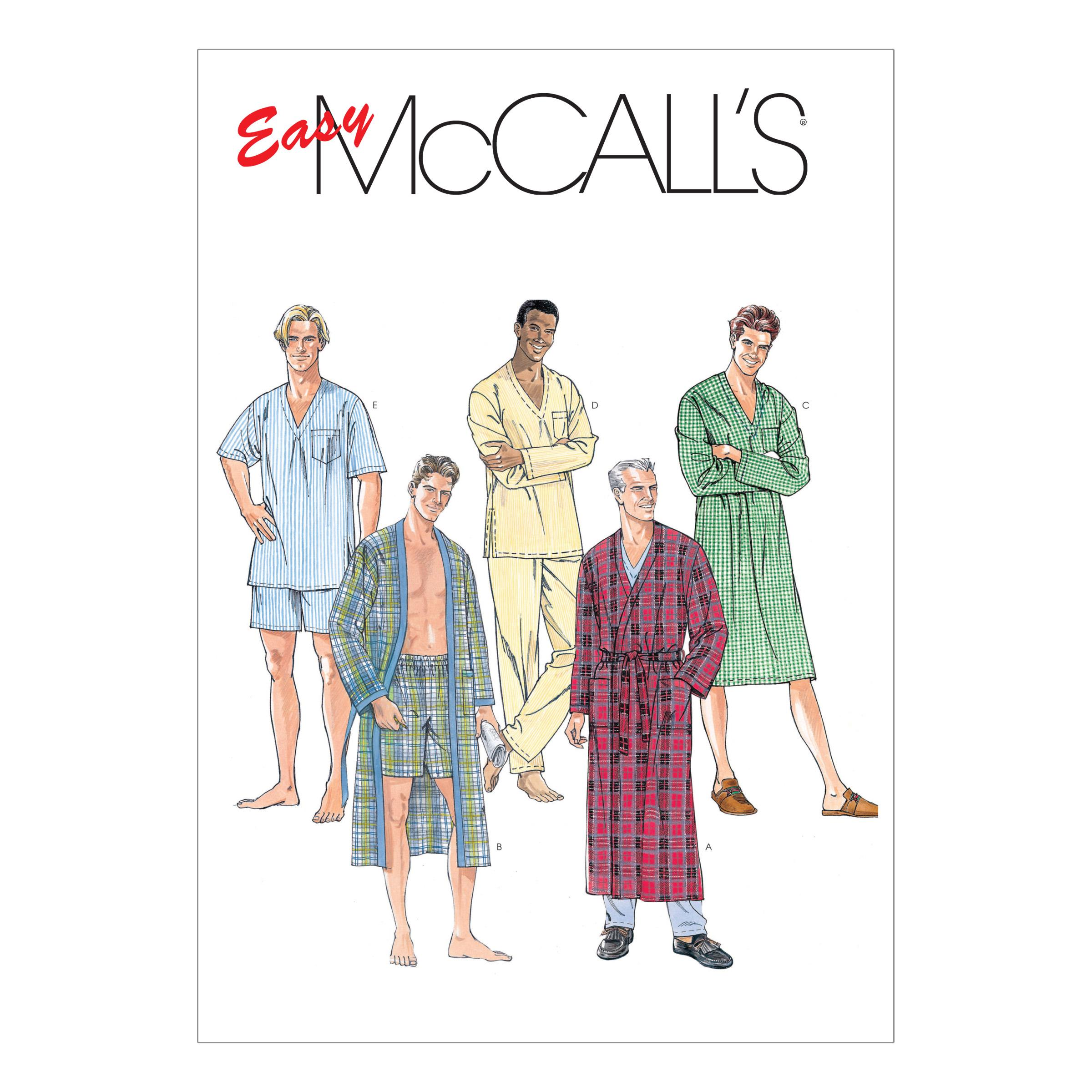 McCalls M6231 Family Sleepwear, Men