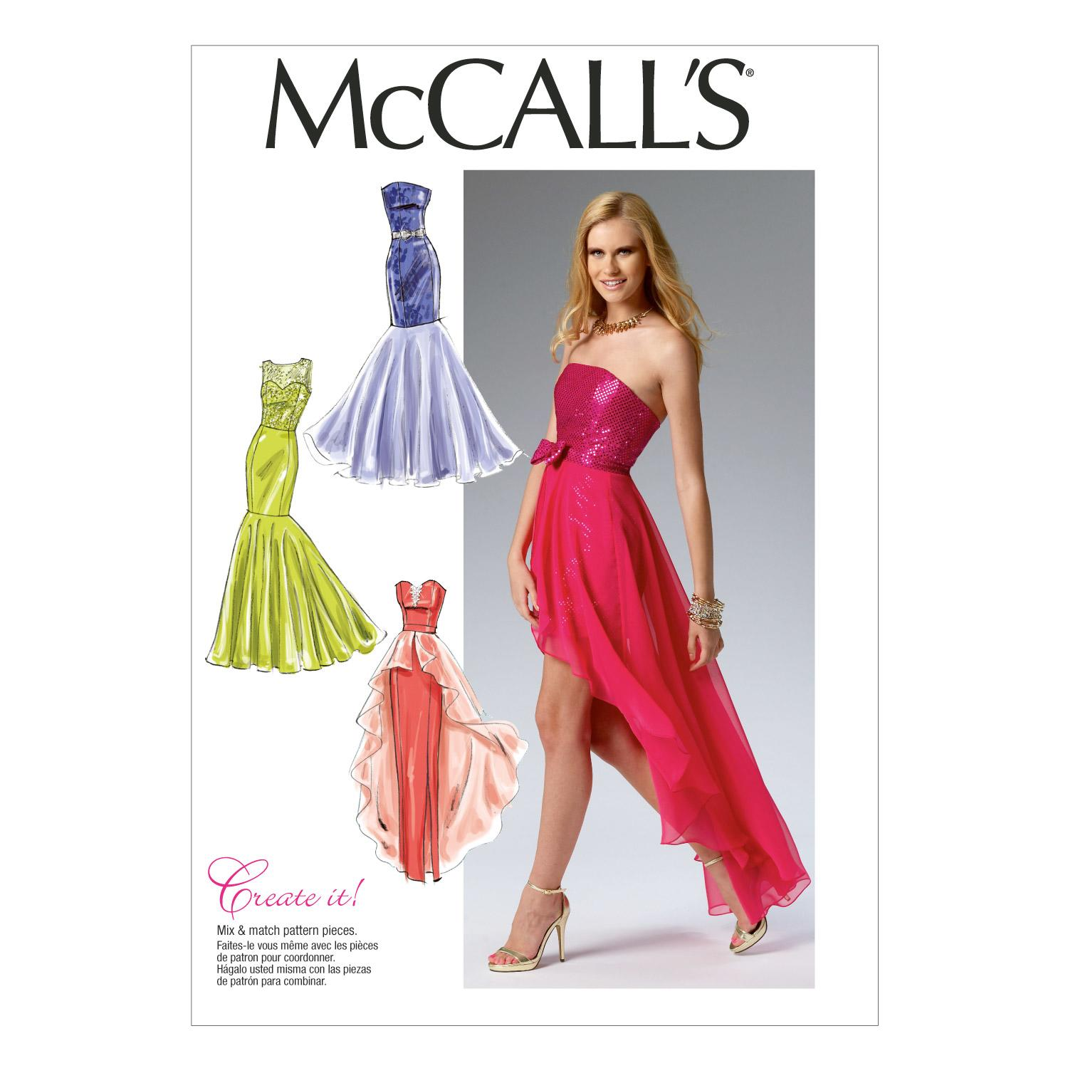McCalls M6838 Dresses, Evening/Prom