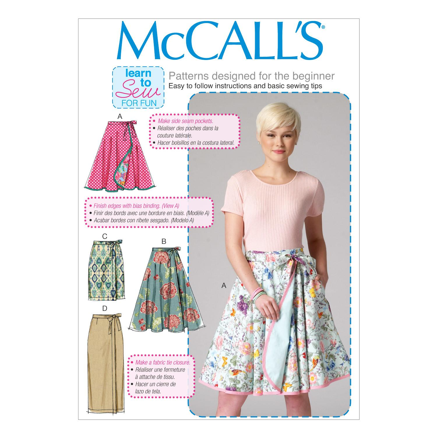 McCalls M7129 Learn To Sew for Fun, Skirts