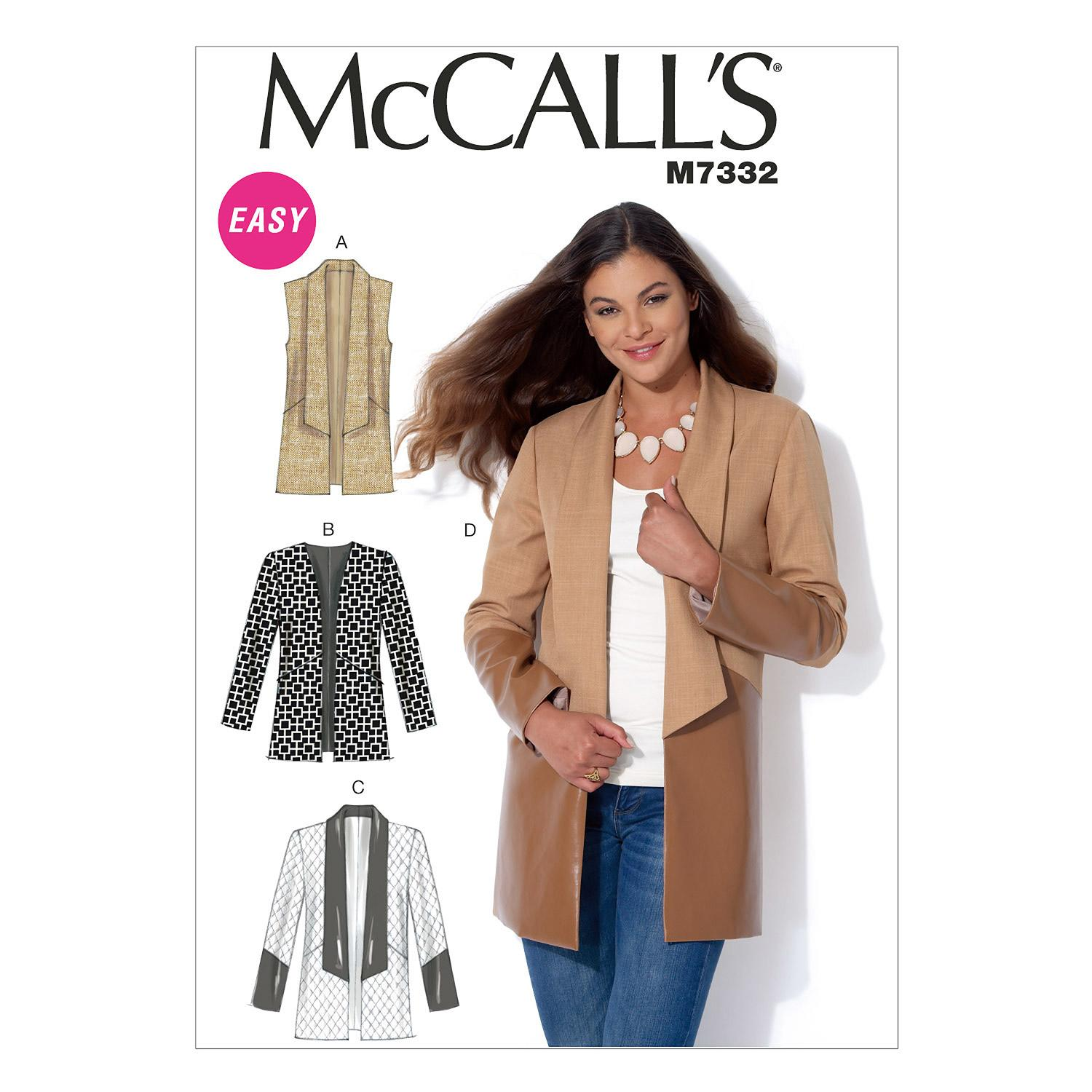 McCalls M7332 Jackets/Vests