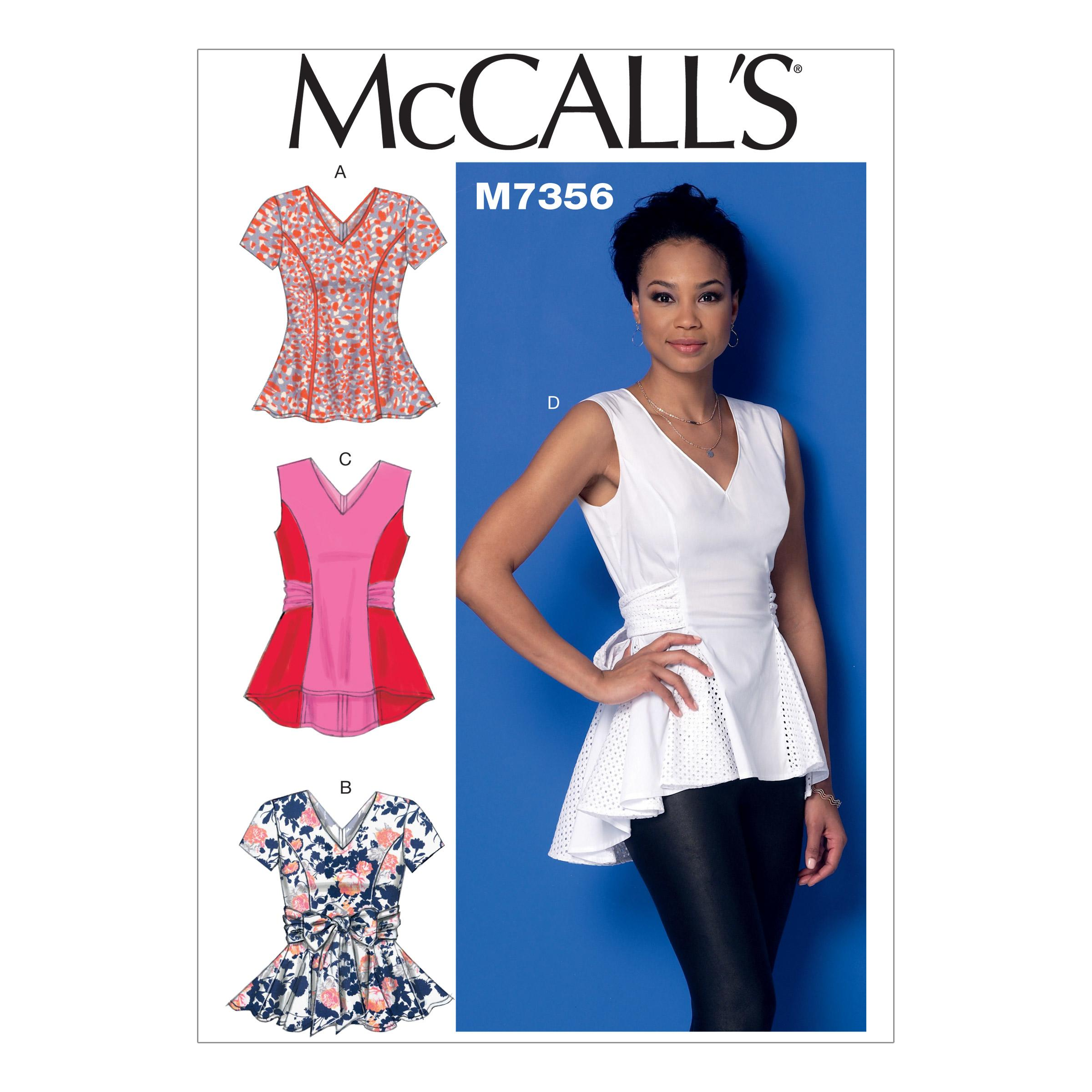 McCalls M7356 Tops/Tunics