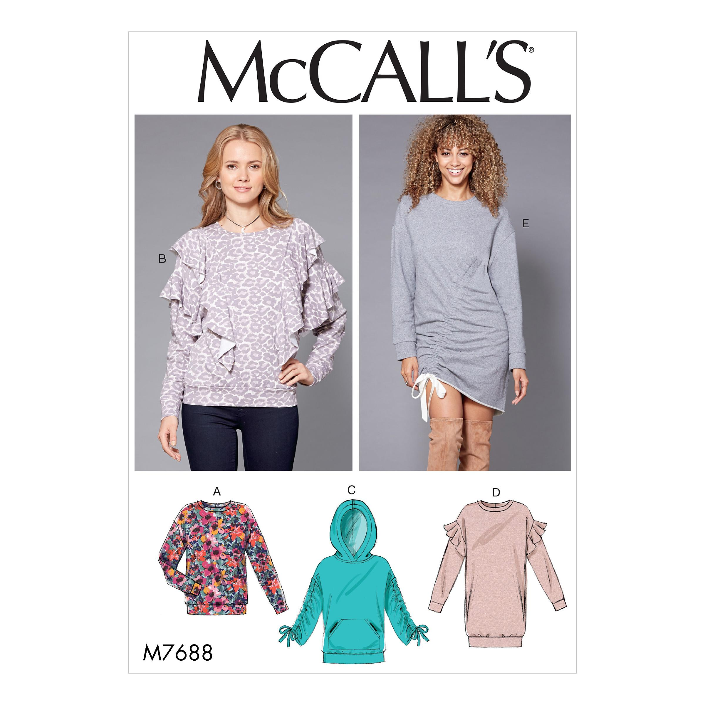McCalls M7688 Misses Tops, Misses Dresses, Activewear