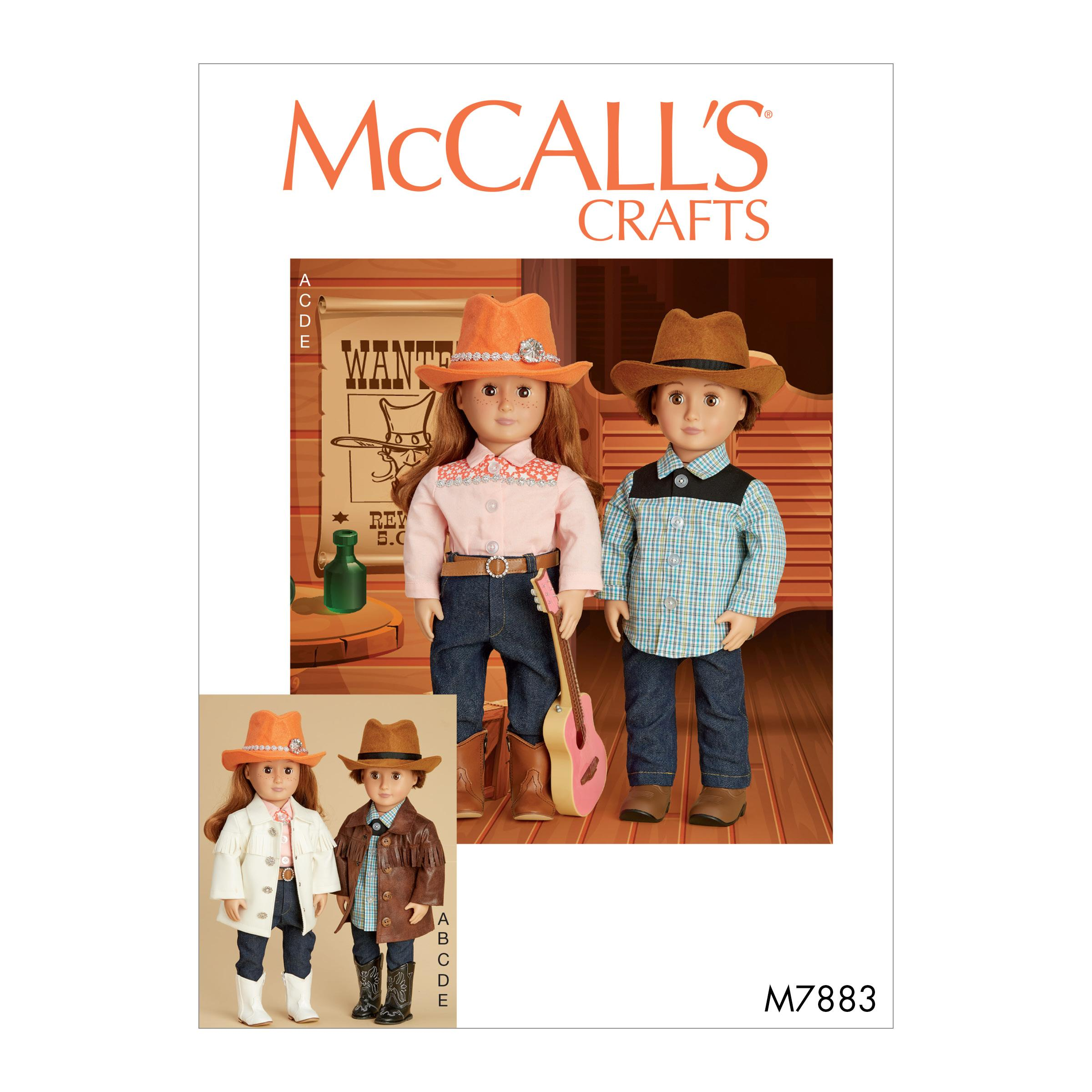 McCalls M7883 Crafts Dolls & Toys