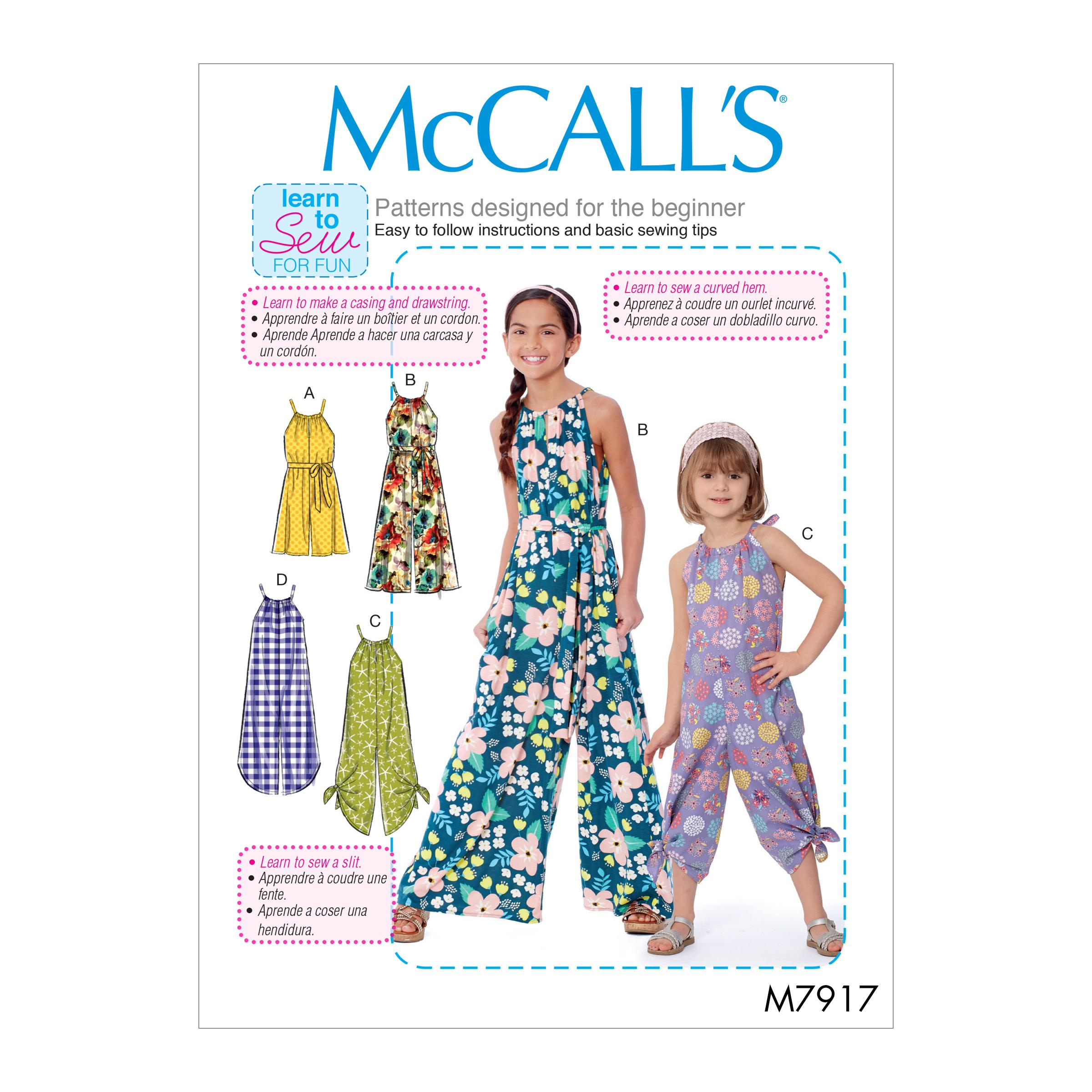 McCalls M7917 Kids Children, Kids Girls & Boys