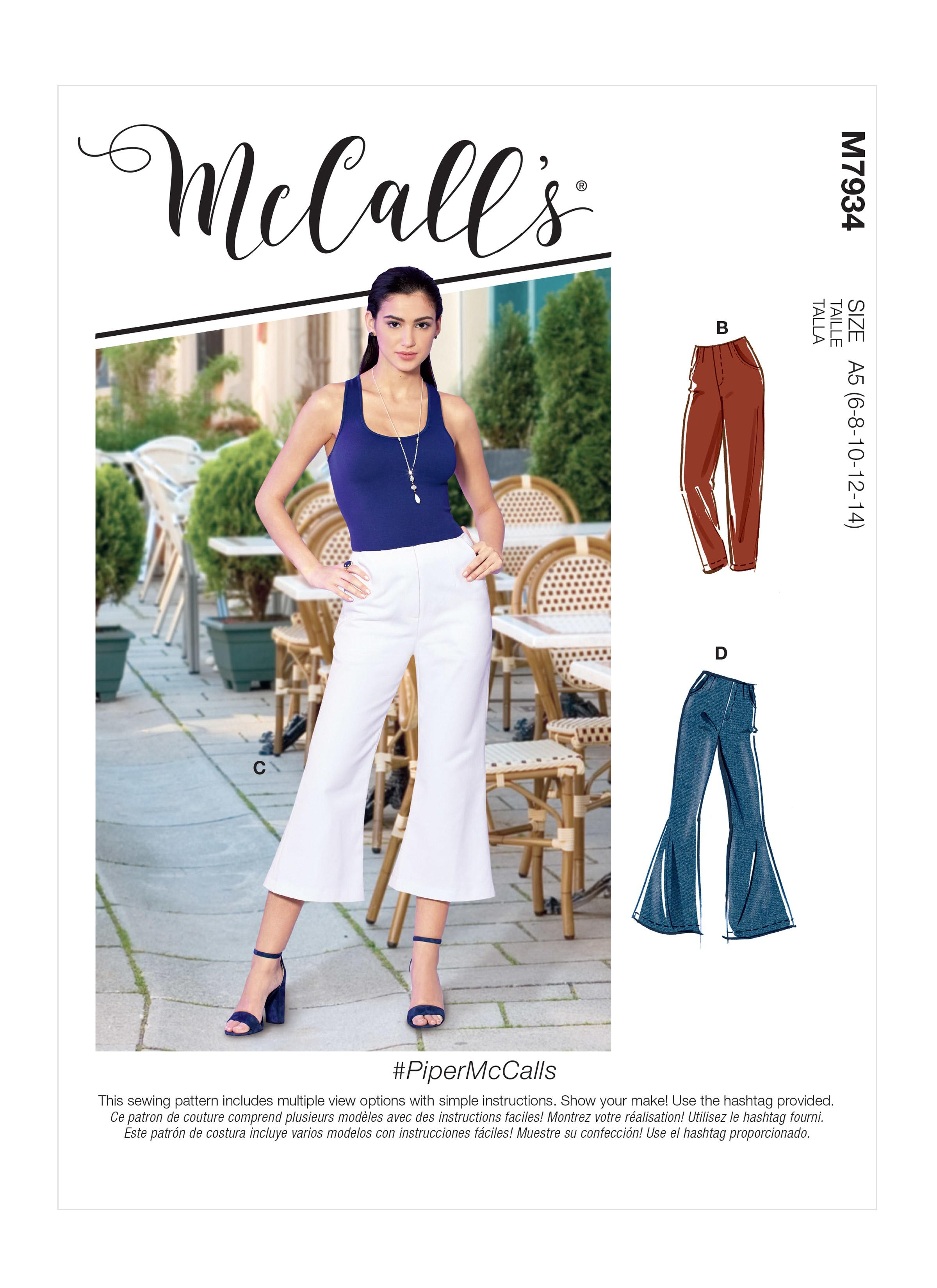 McCalls M7934 Misses Pants, Jumpsuits & Shorts