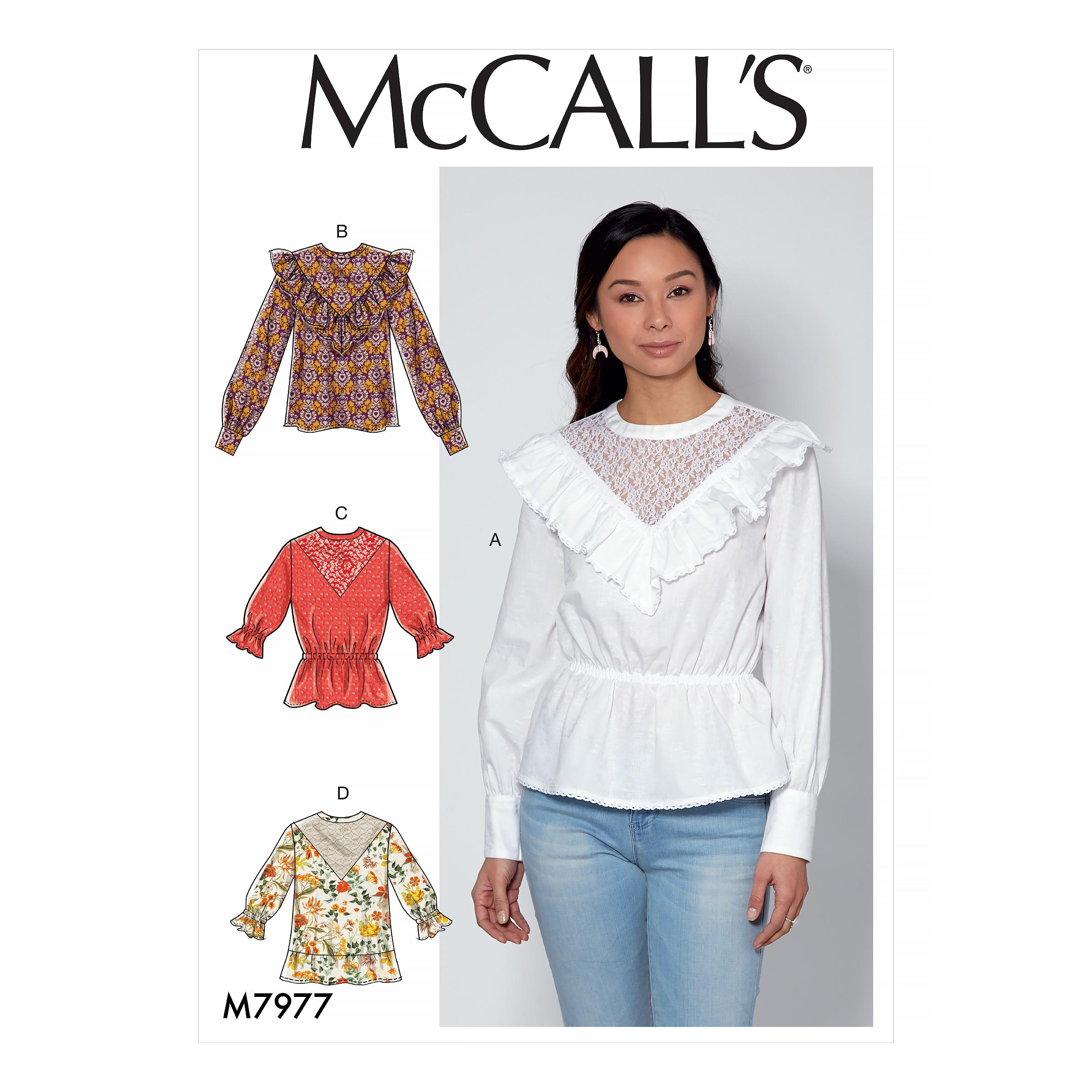 McCalls M7977 Misses Tops