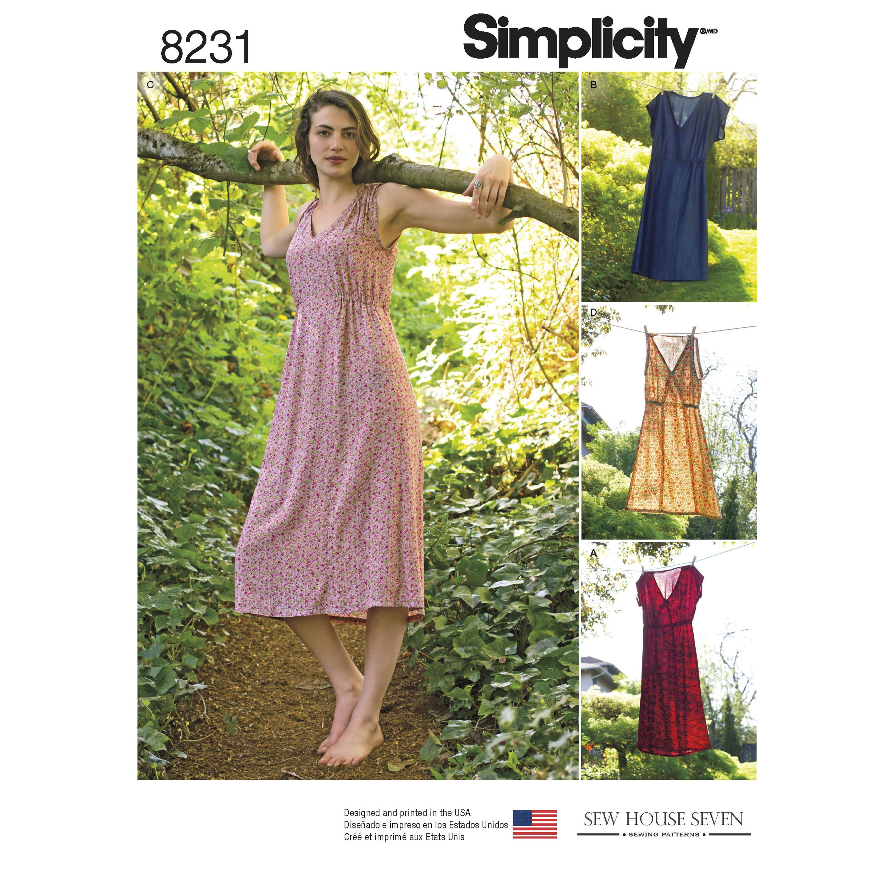 Simplicity S8231 Women's Dress in Two Lengths